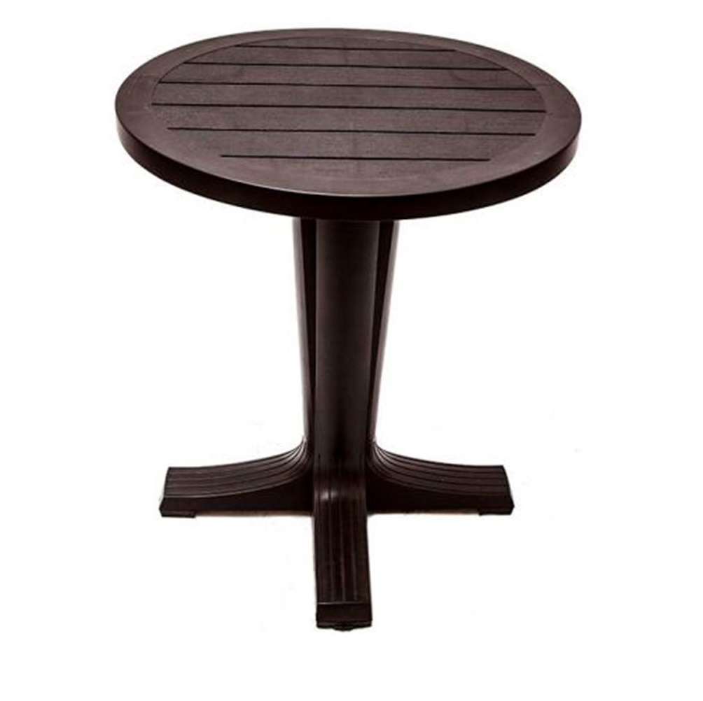 Стол круглый Элластик-пласт прованс 80х80х70 см шоколадный