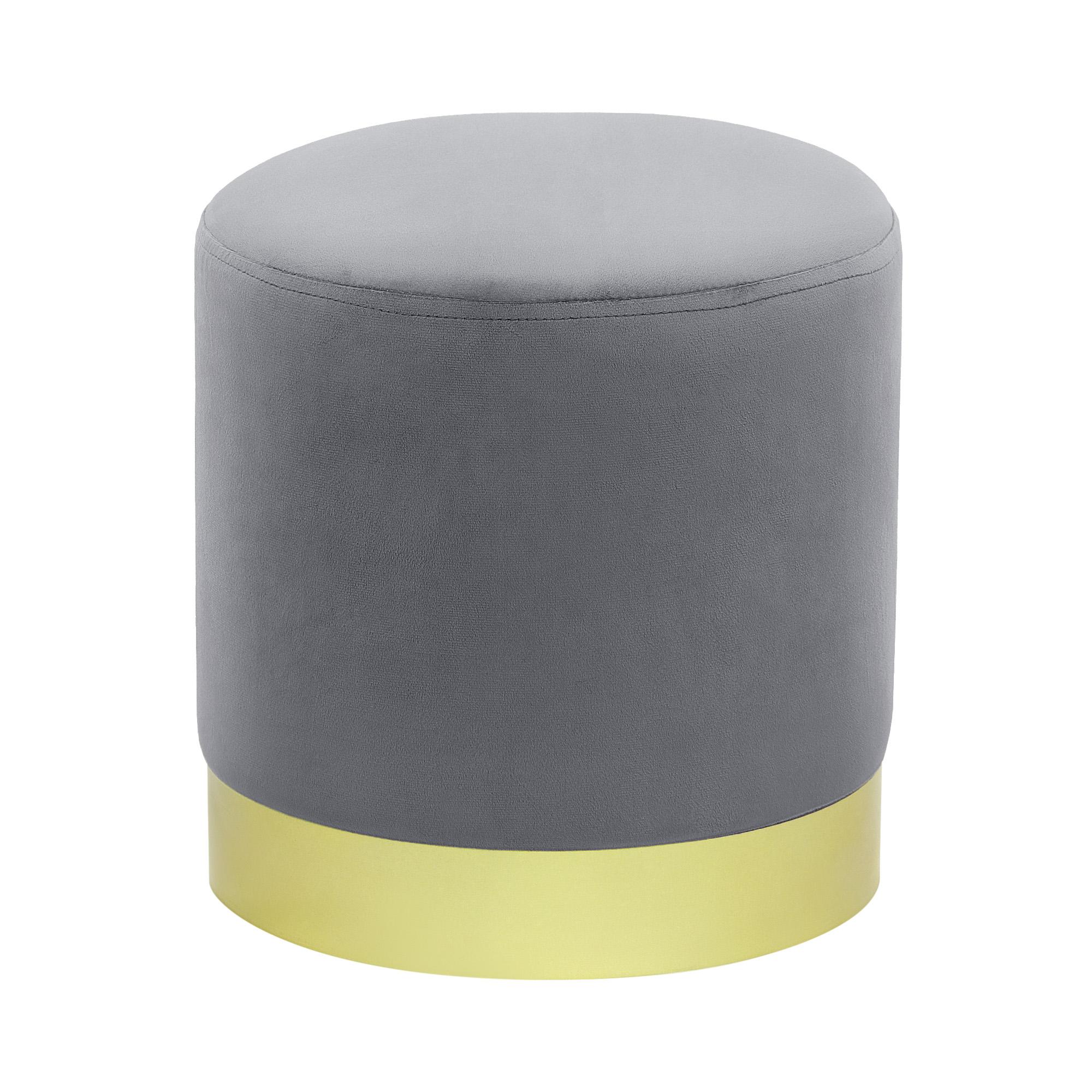 Пуфик Foreign trade Фибби серый 31,5x31,5x33 см