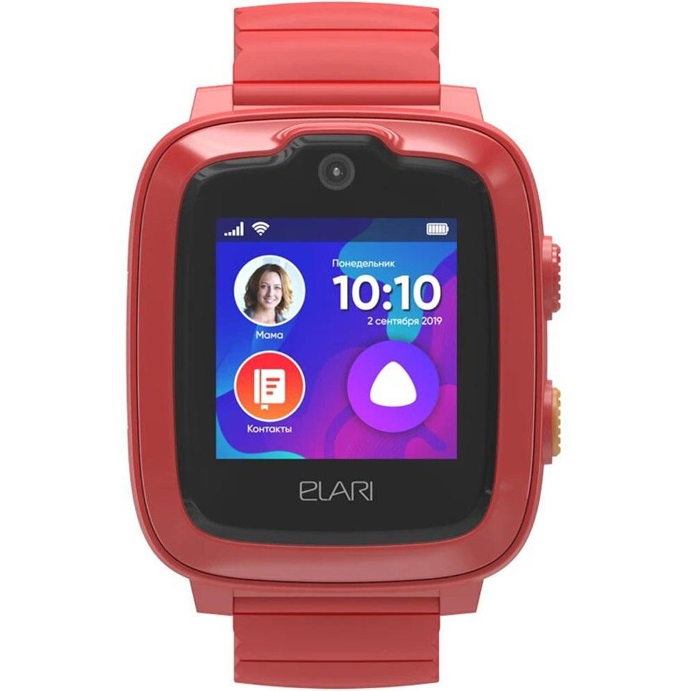 Фото - Умные часы Elari KidPhone 4G с Алисой Red штатная магнитола farcar s300 sim 4g для toyota land cruiser prado 150 2013 на android rg531r камера заднего вида в подарок