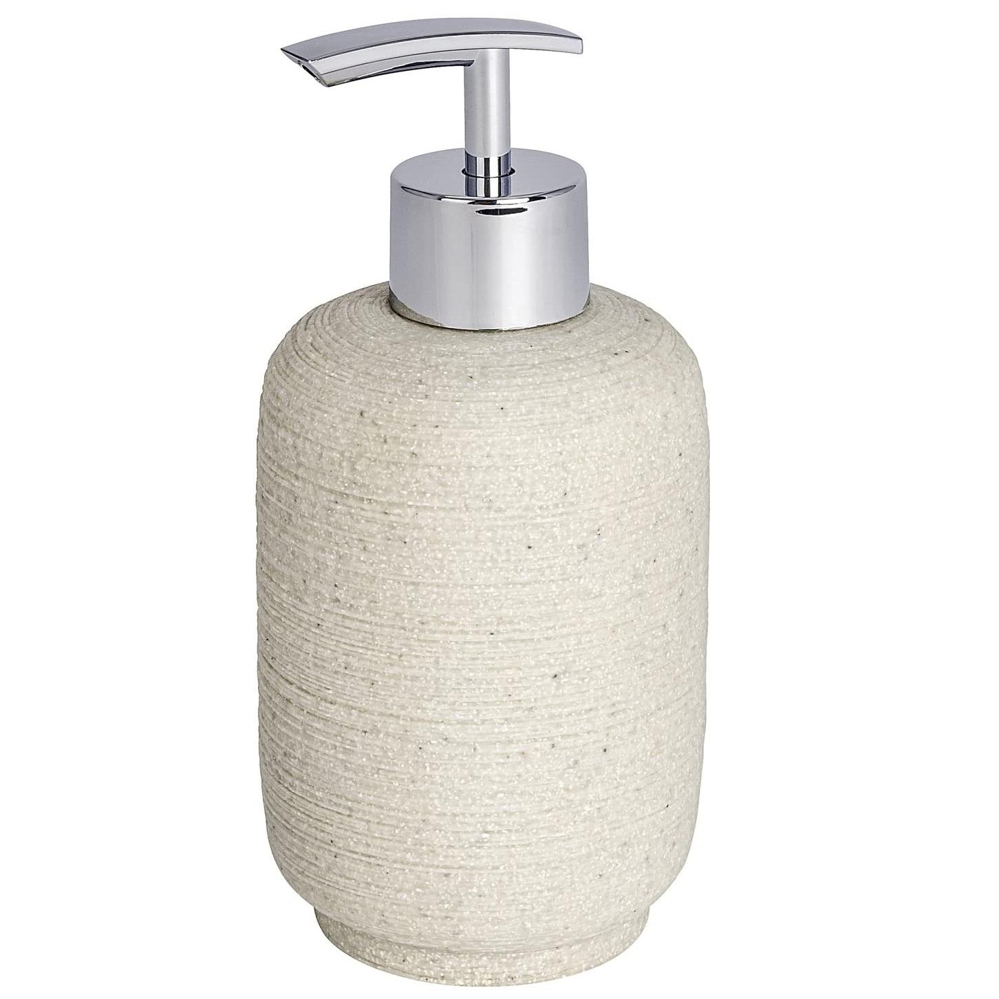 Дозатор для мыла Wenko sanitary go neo бежевый 8х8х16 см 0,3л дозатор для мыла wenko sanitary goa бежевый