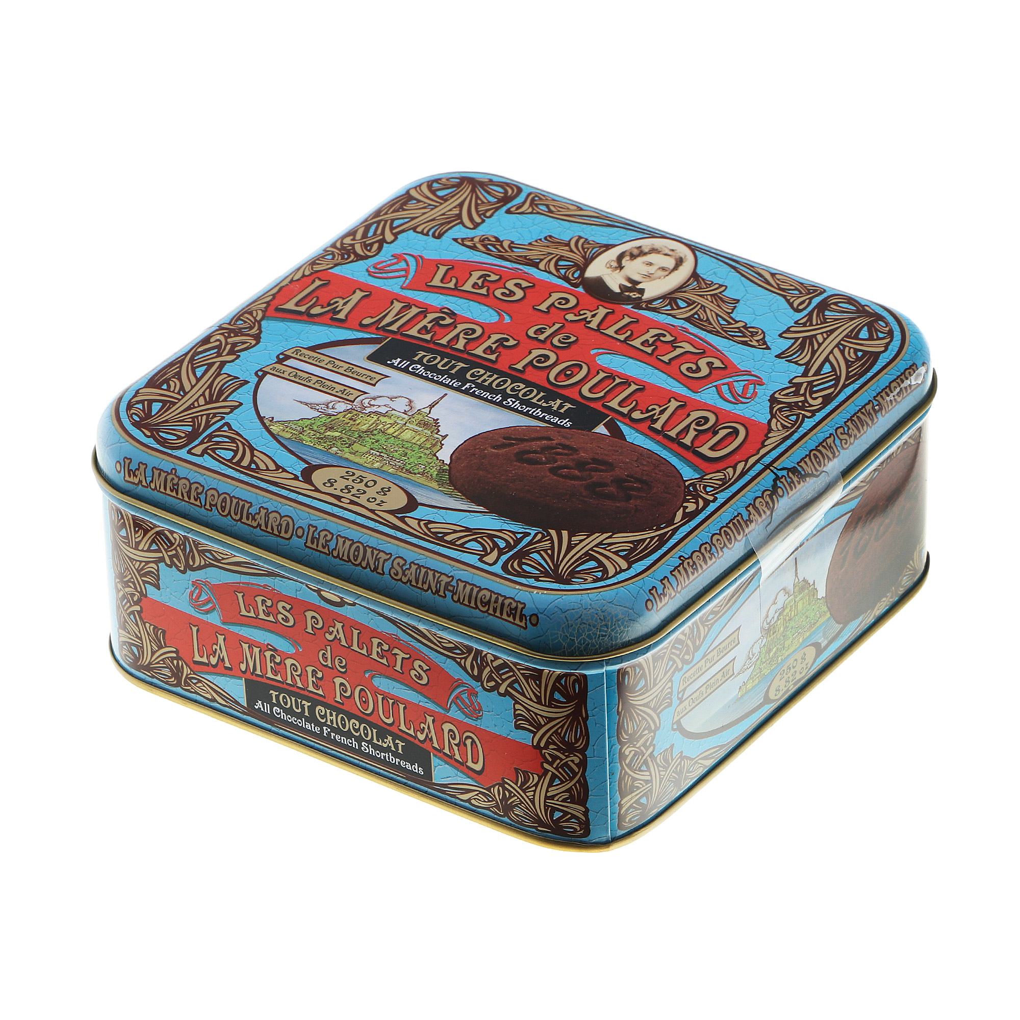 Печенье La Mere Poulard шоколадное ж/б 250 g