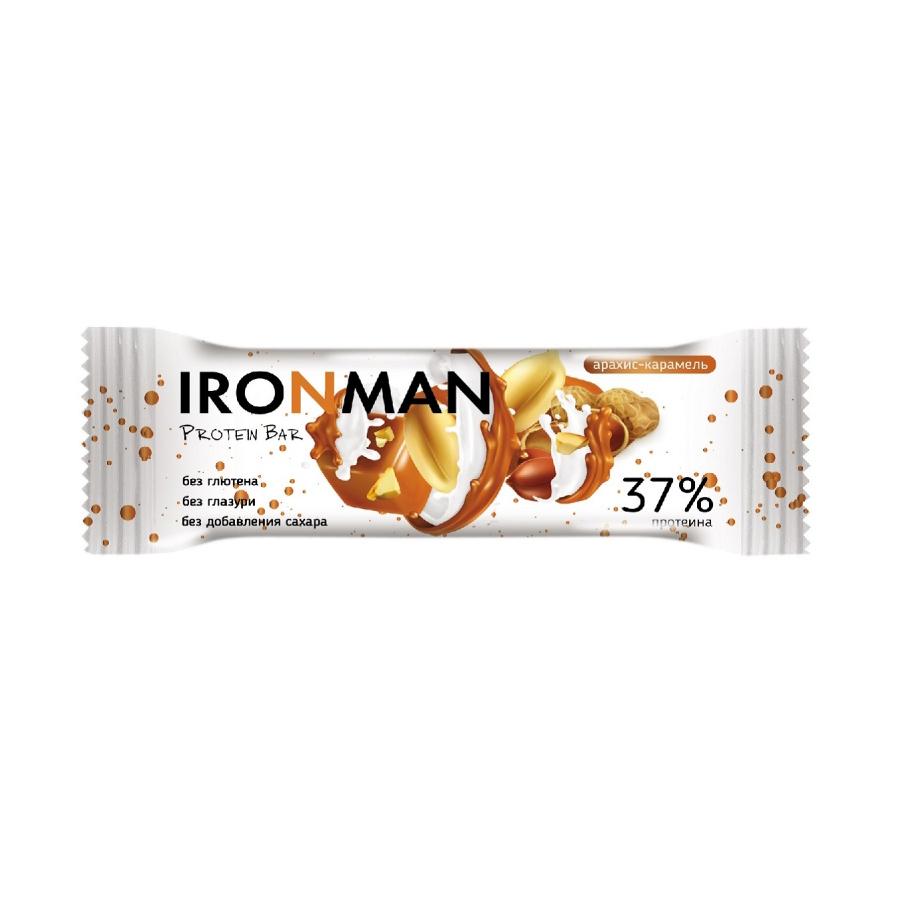 Батончик Ironman Арахис, карамель 50 г батончик finchi to go лимон алоэ топинамбур 47 г