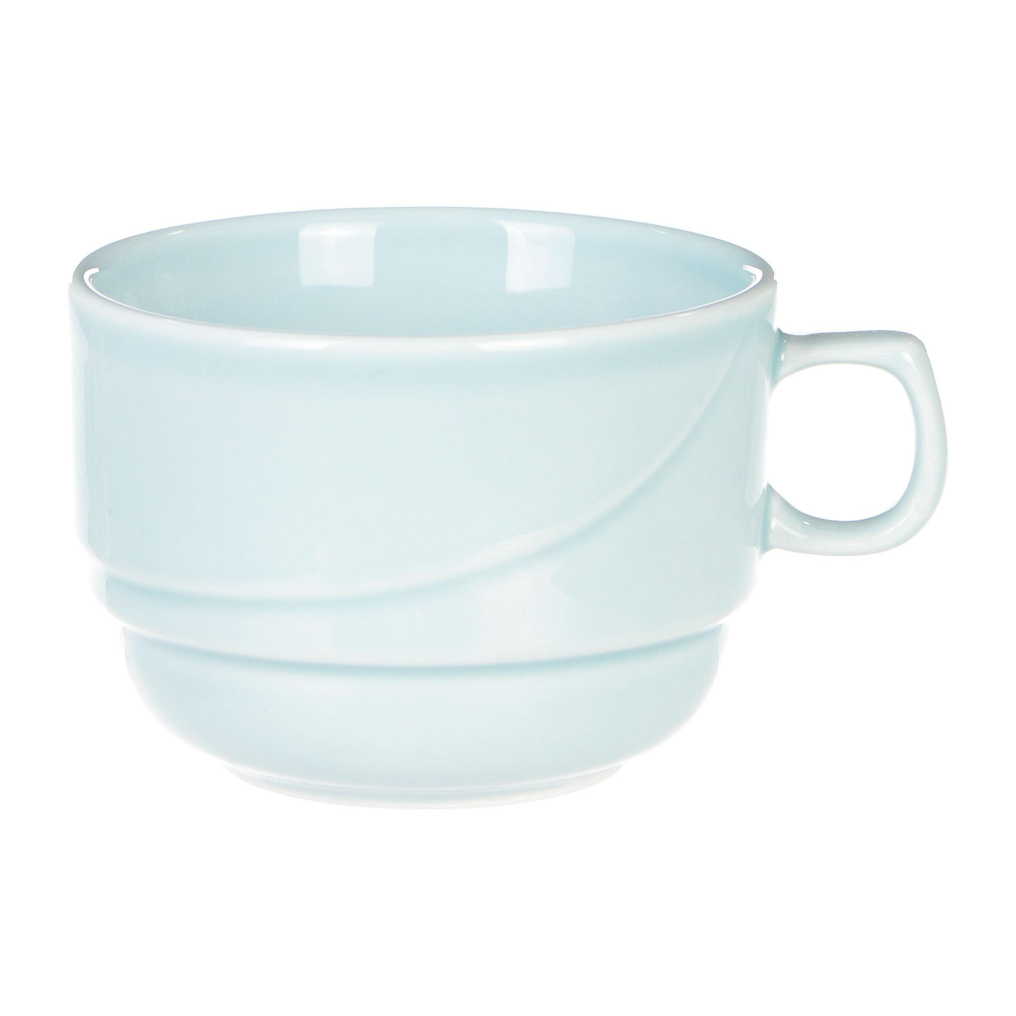 Чашка чайная Башкирский фарфор Принц 190 мл голубая