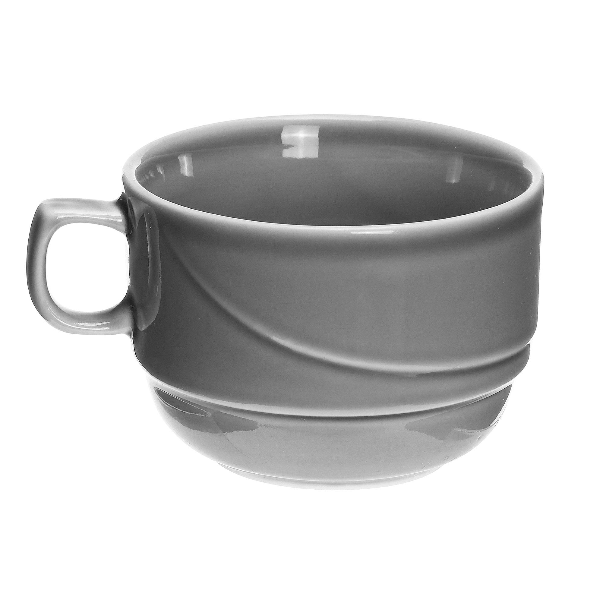Чашка чайная Башкирский фарфор Принц 190 мл серая