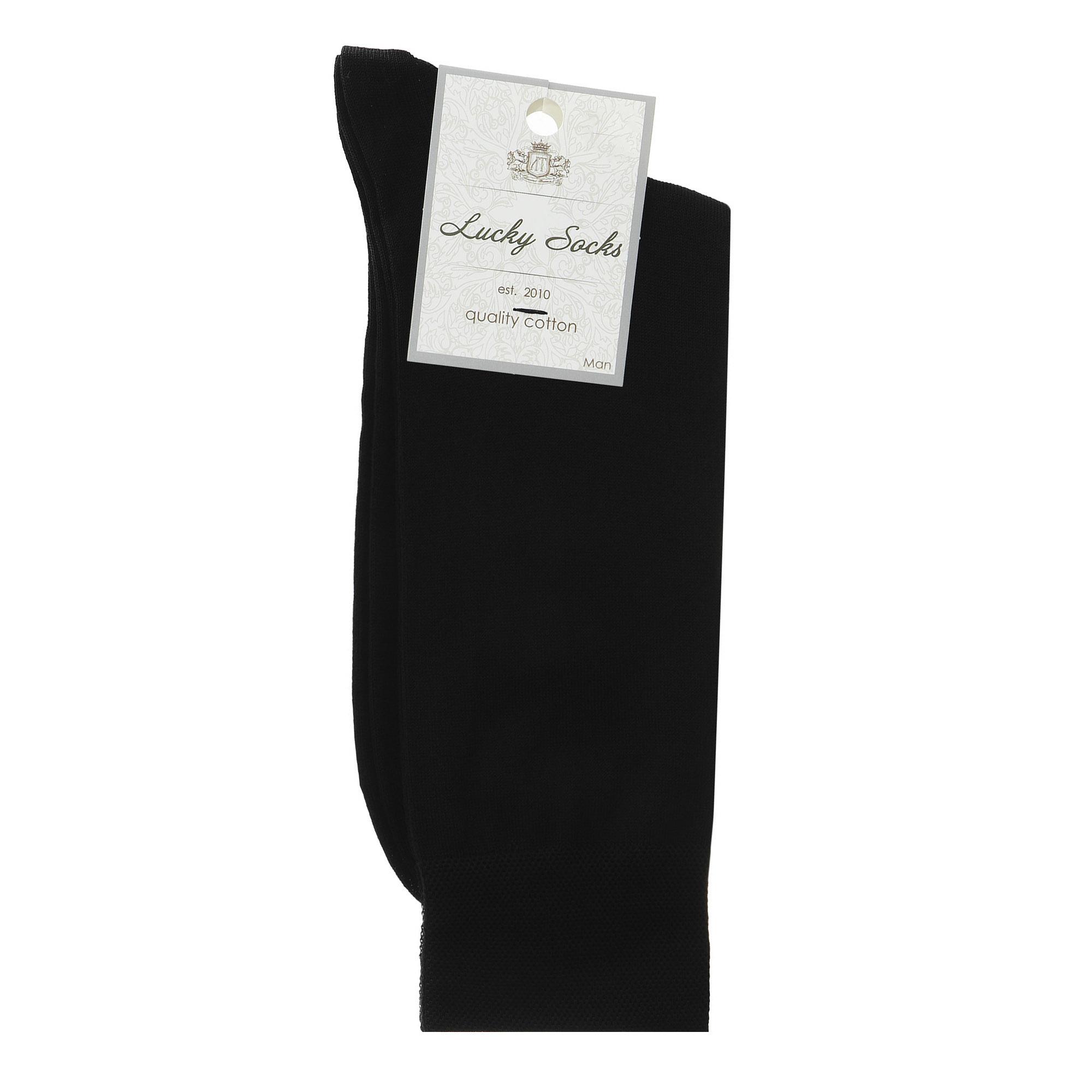 Носки мужские однотонные Lucky Socks черные 1 пара 29 фото