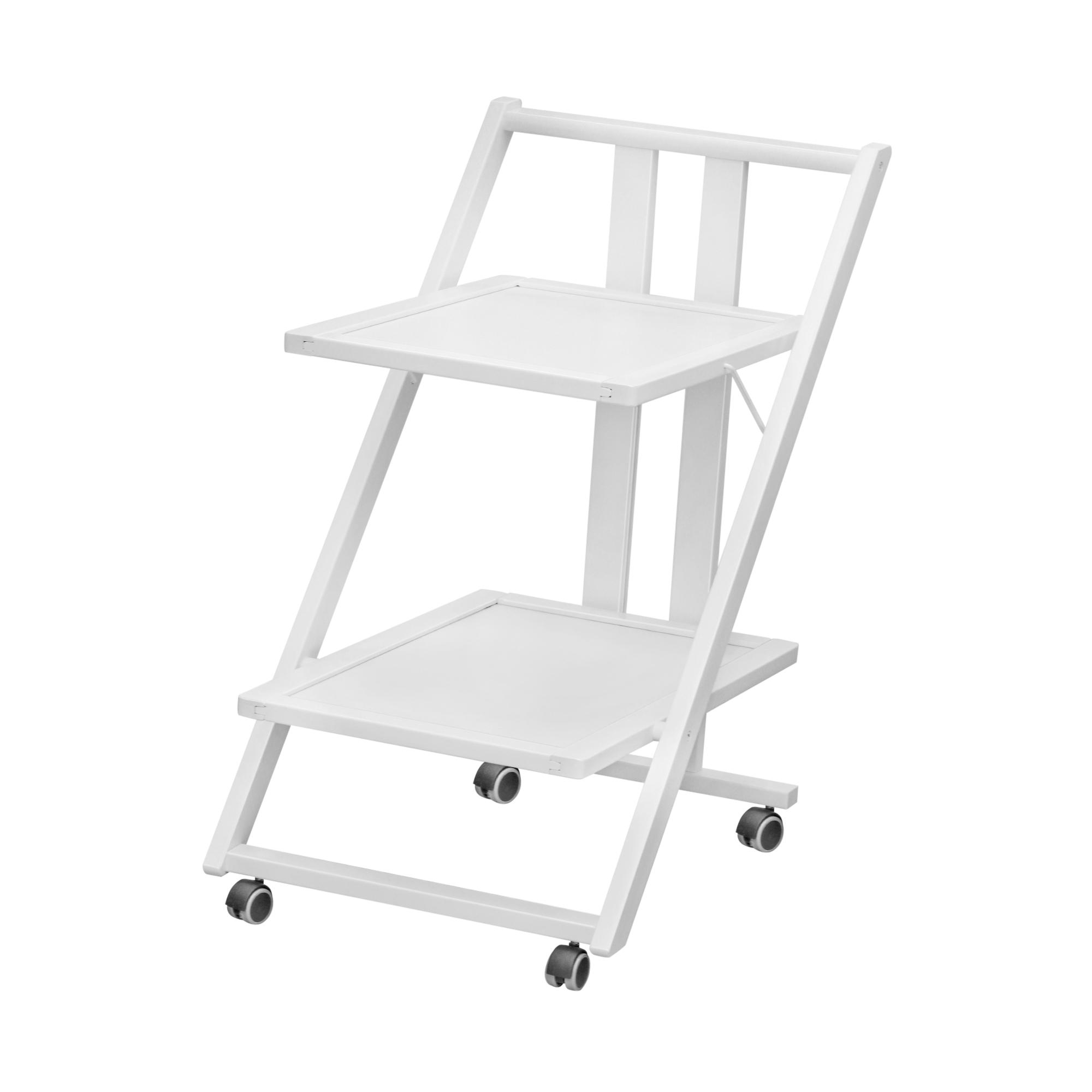 Столик сервировочный на колесах Arit bianco 2 уровня polesie сервировочный столик