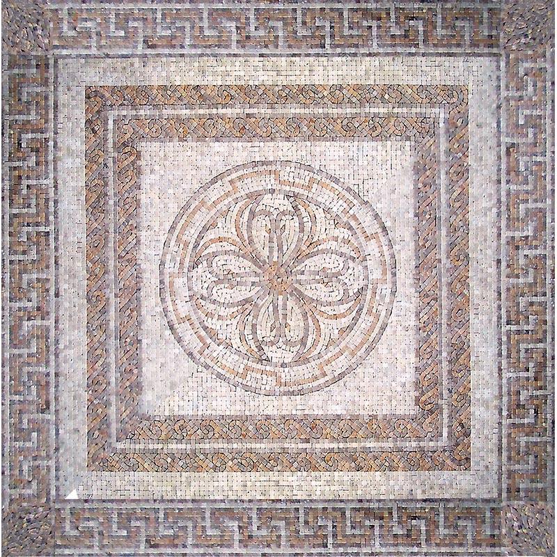 Панно Natural Мозаичные ковры и розоны Мрамор бежевый 122x122 см PH-21 фото