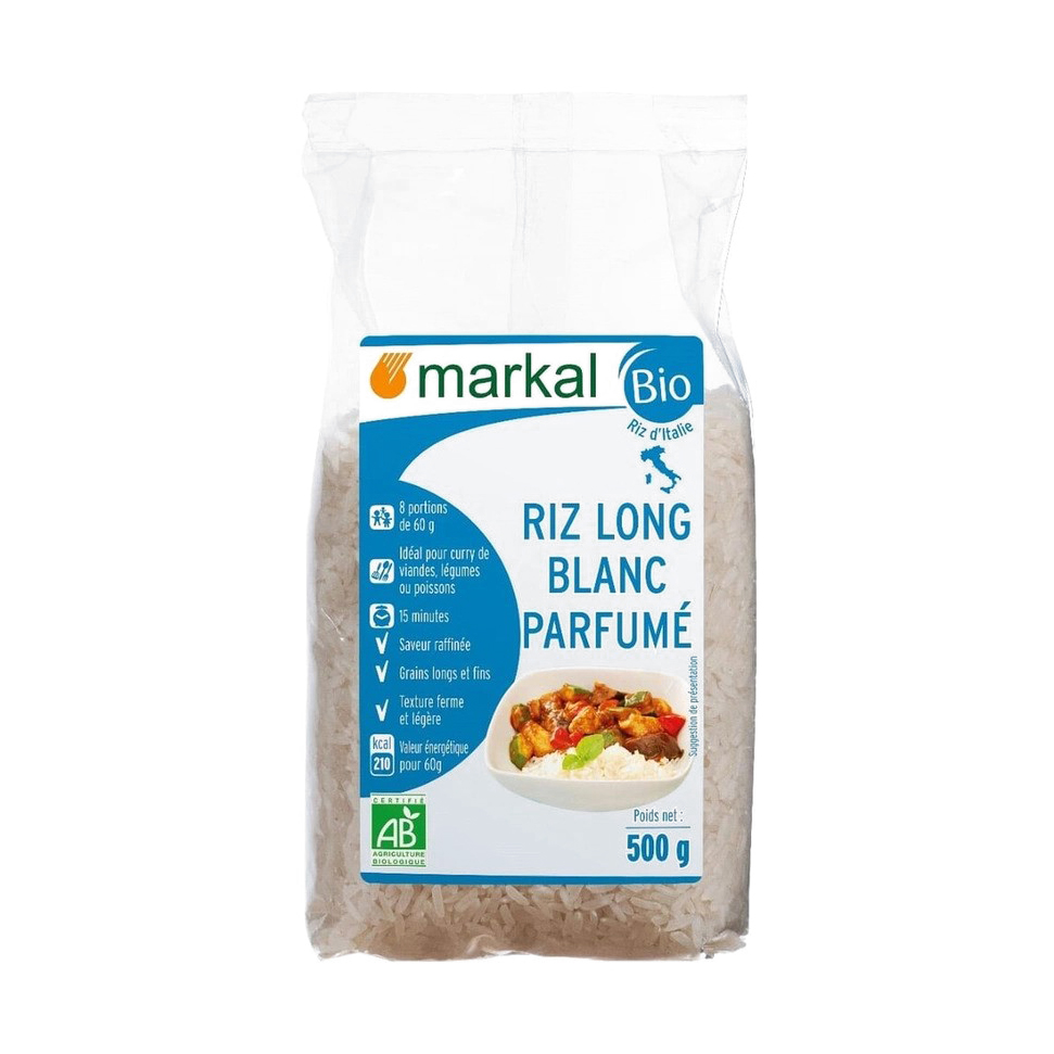 Рис белый длиннозёрный Markal ароматный 500 г рис casa rinaldi карнароли длиннозёрный полуобрушенный 500 г