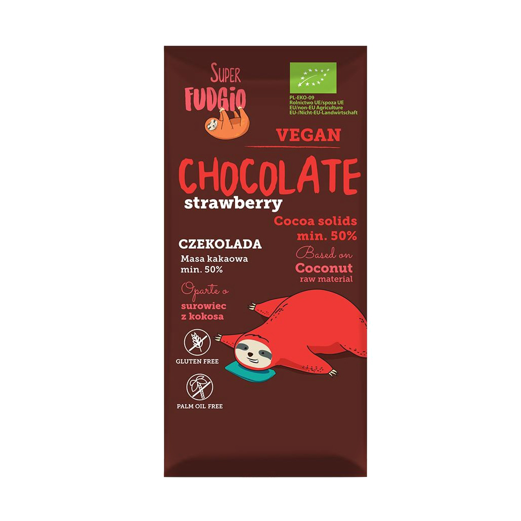 Шоколад Super Fudgiо с клубникой 80 г фото