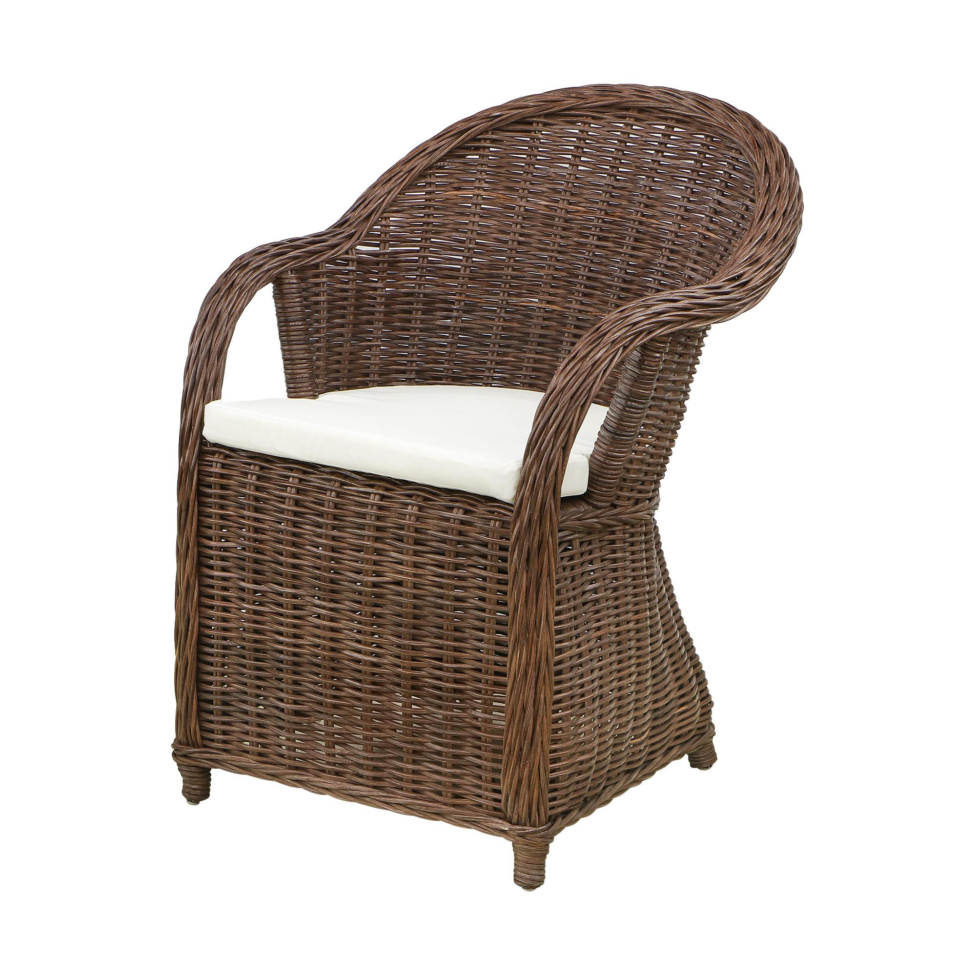Кресло Rattan grand riyad с подушкой medium brown фото