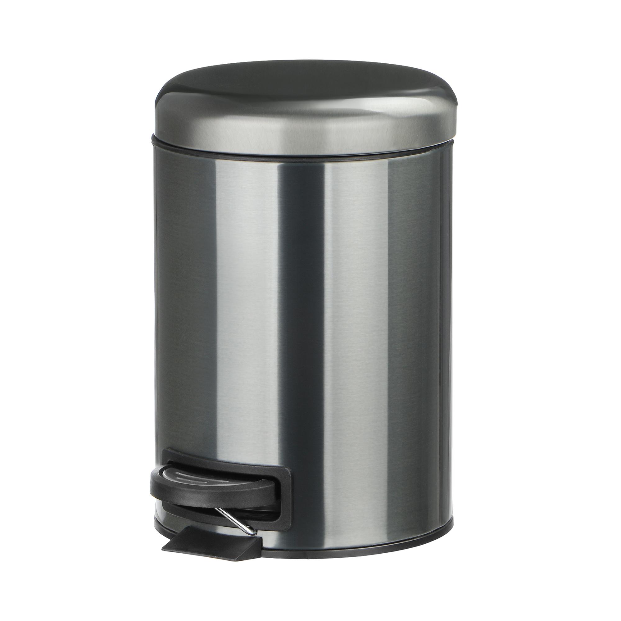 Ведро мусорное Wenko sanitary lerman с педалью ч/м 3л