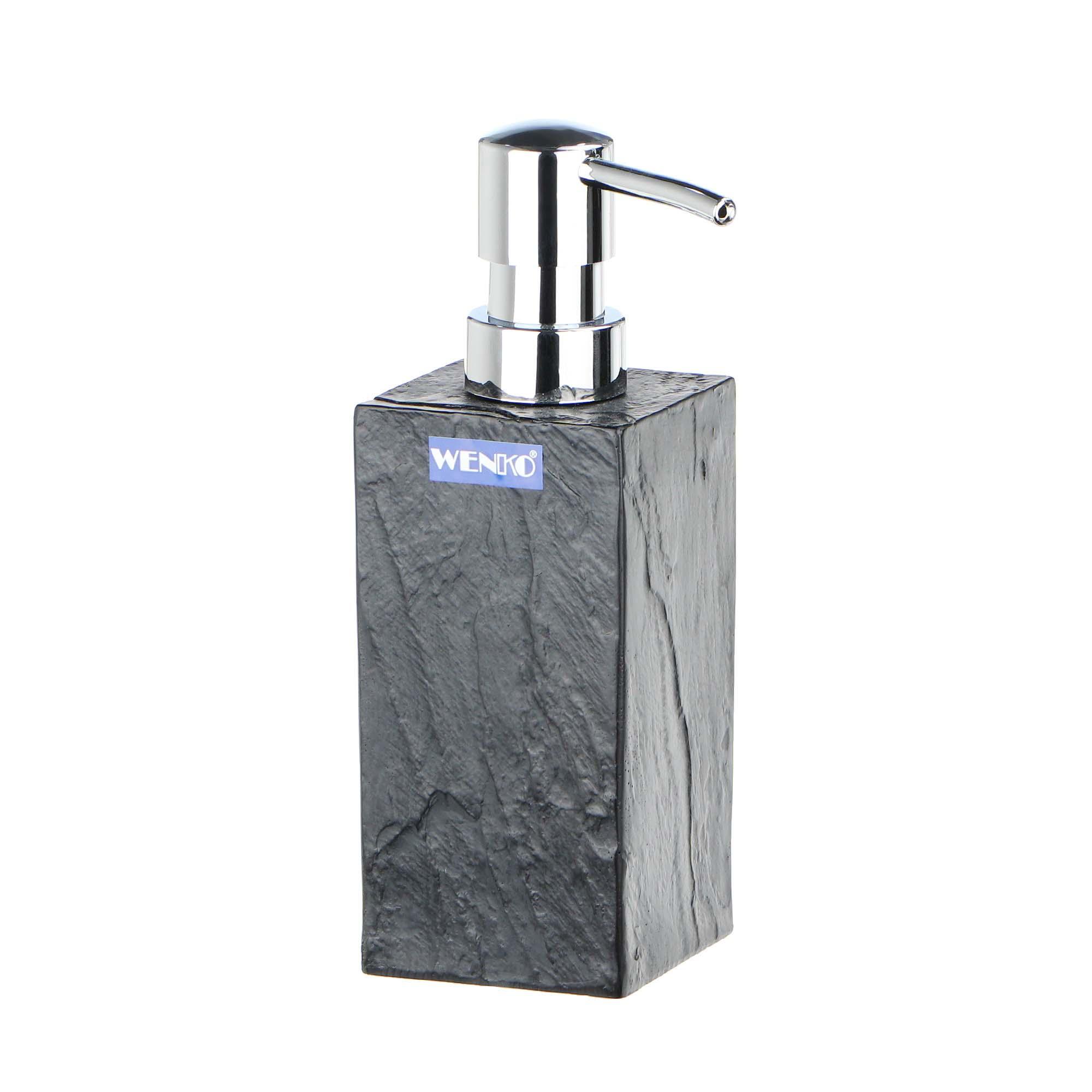 Дозатор для мыла Wenko sanitary state rock дозатор для мыла wenko sanitary goa бежевый