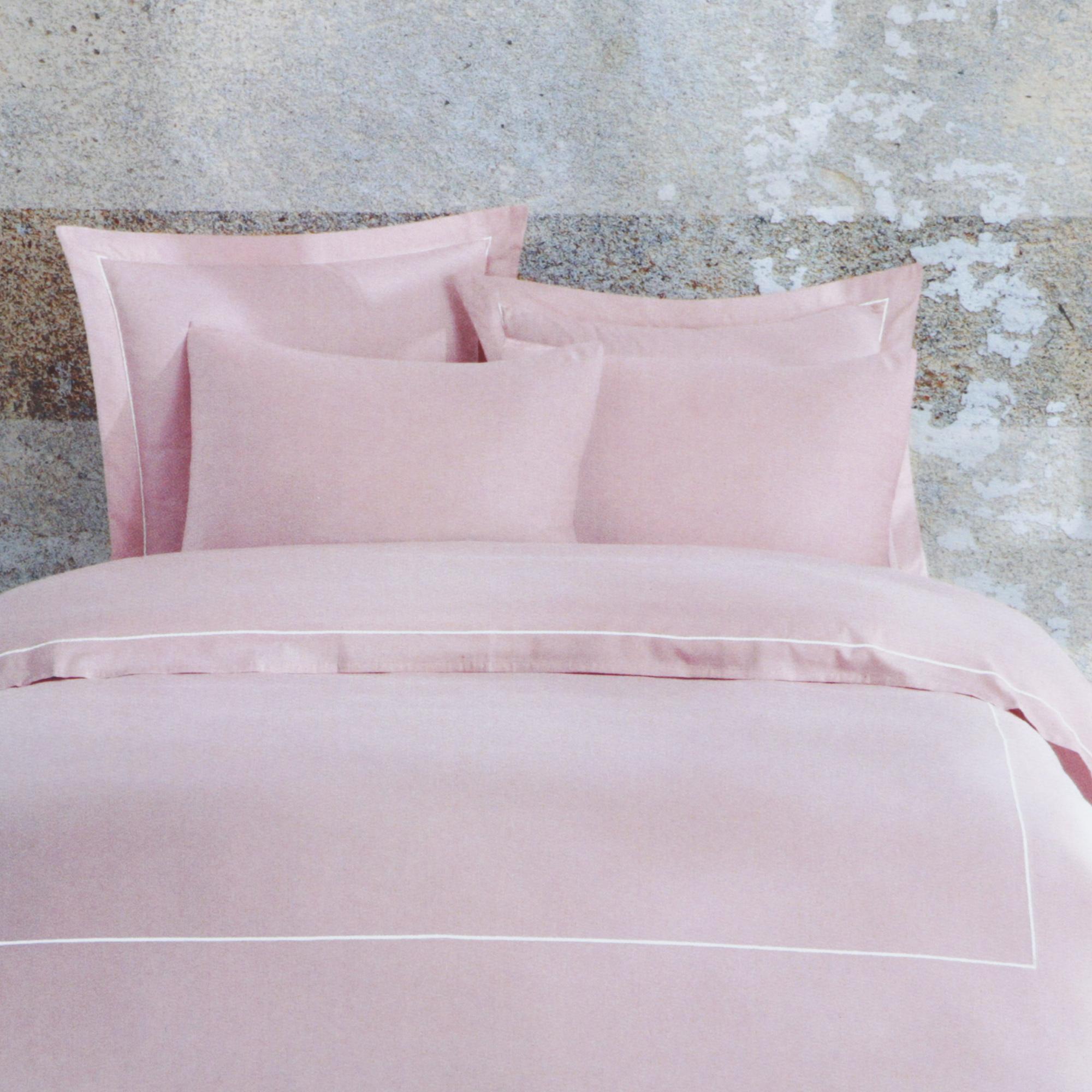 Постельный комплект Bella casa king size chinte rose /white stripes постельный комплект bella casa 1 5сп white golden olive stripes