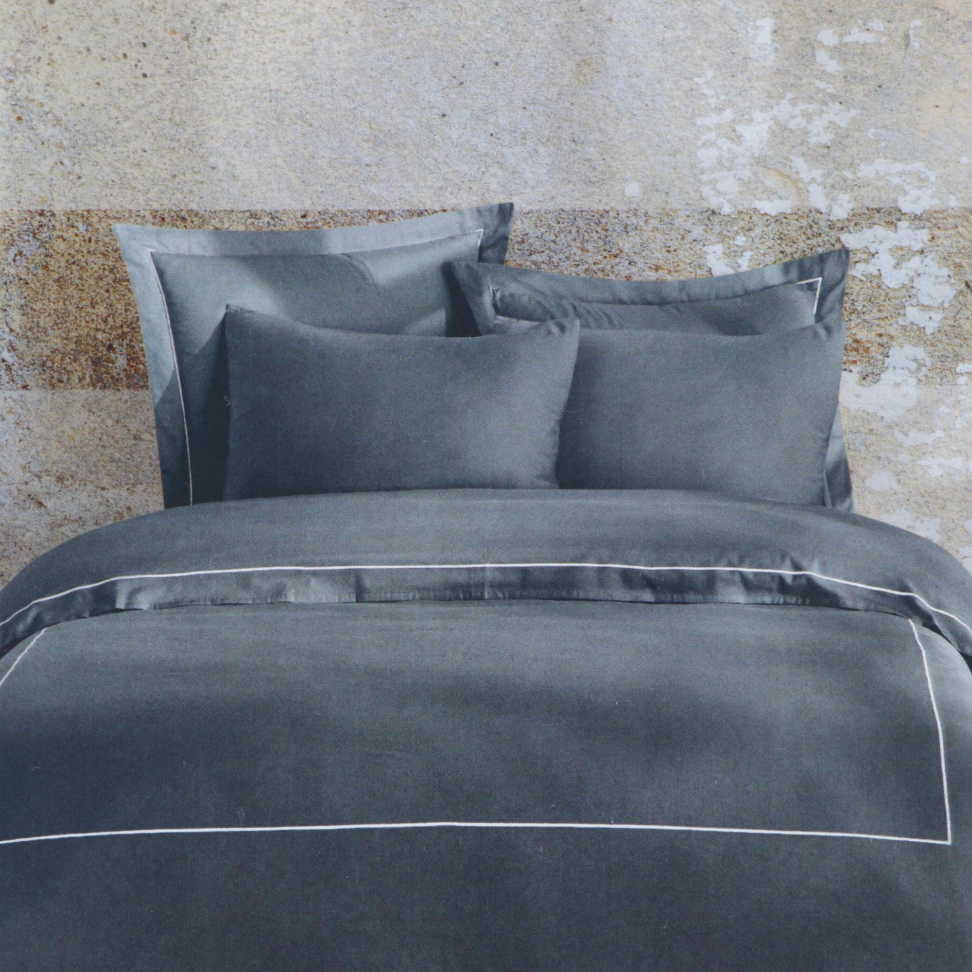 Постельный комплект Bella casa king size pewter / white stripes постельный комплект bella casa 1 5сп white golden olive stripes