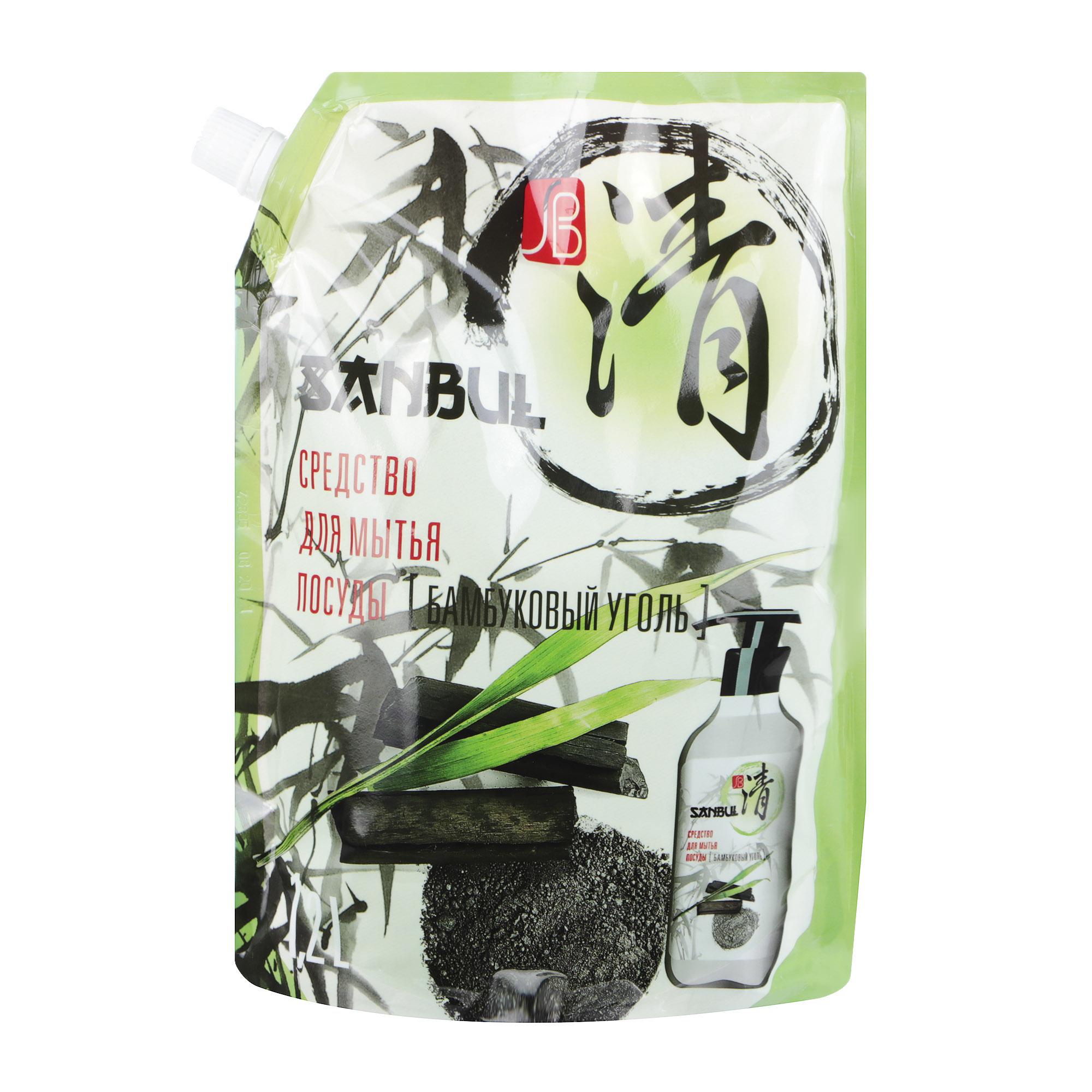 Средство для мытья посуды SANBUL Бамбуковый уголь 1,2 л