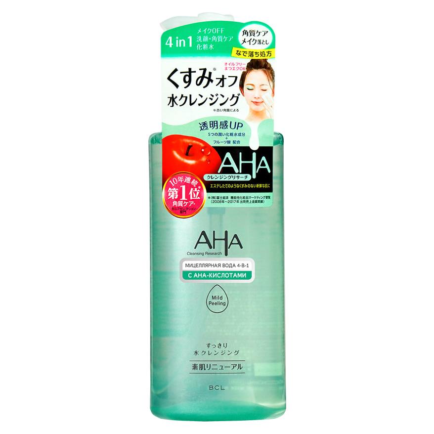 Мицеллярная вода AHA для снятия макияжа и умывания 4-в-1 с кислотами 300 мл недорого