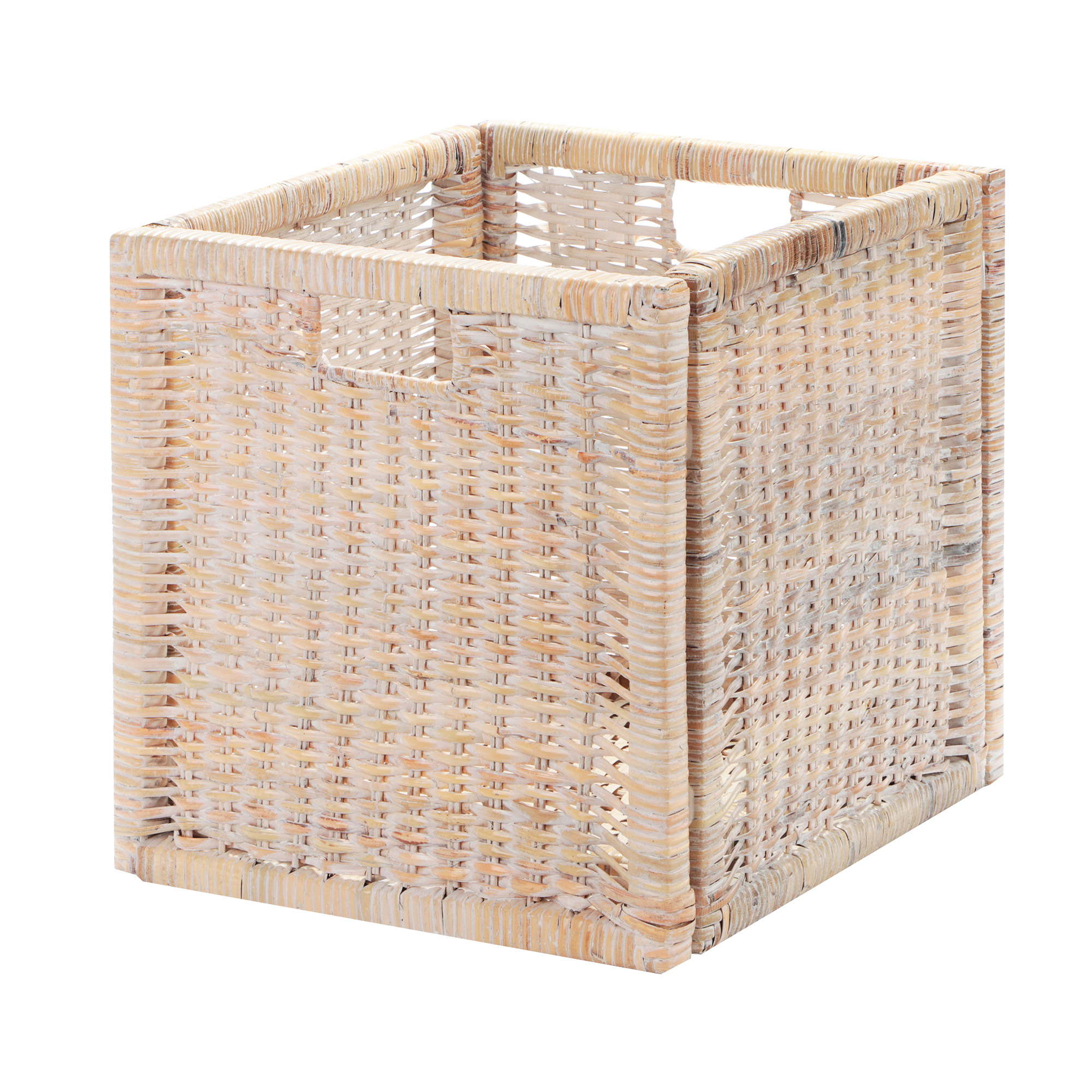 Корзина декоративная Rattan grand amsterdam white wash