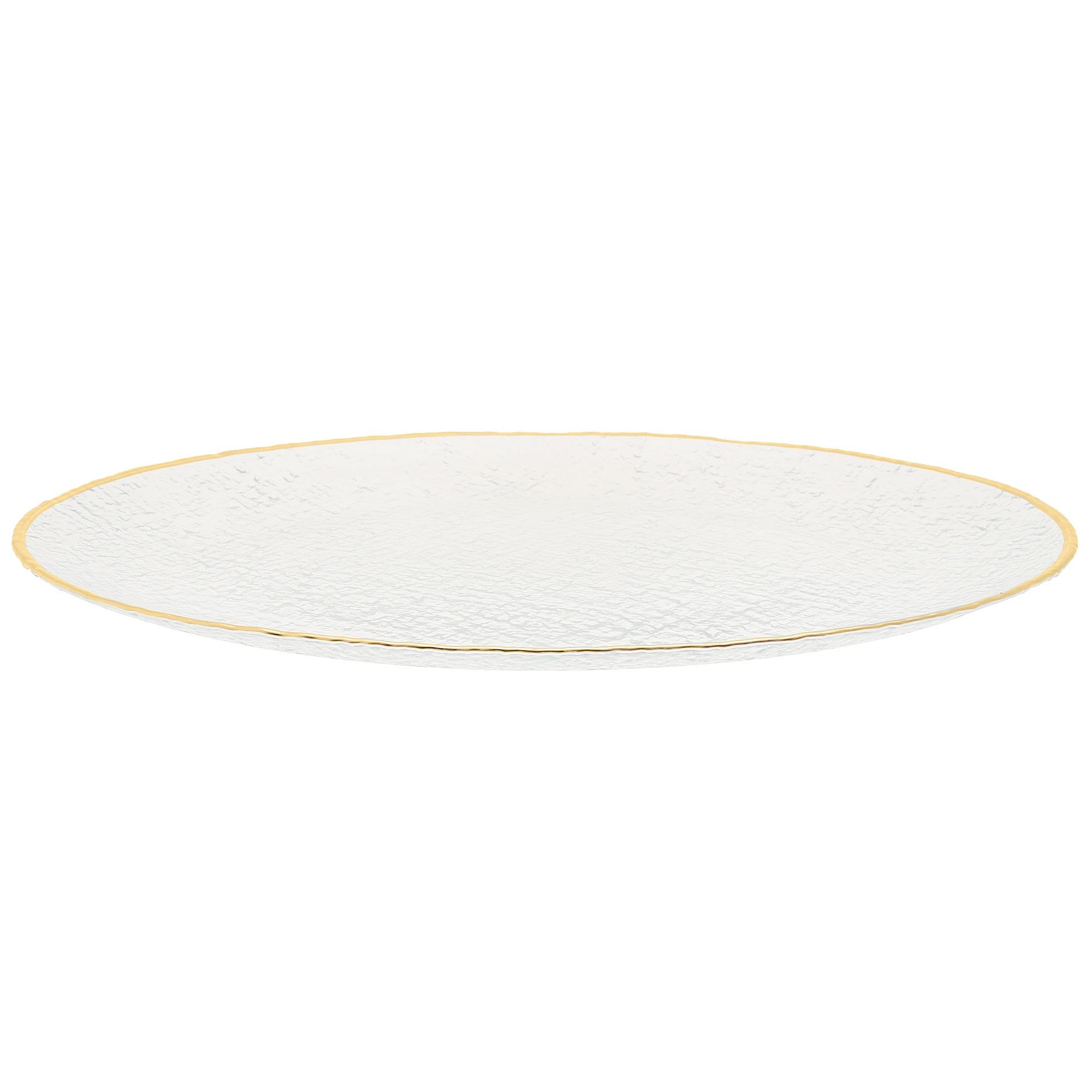 Блюдо стеклянное ArdaCam Kendo 33 см