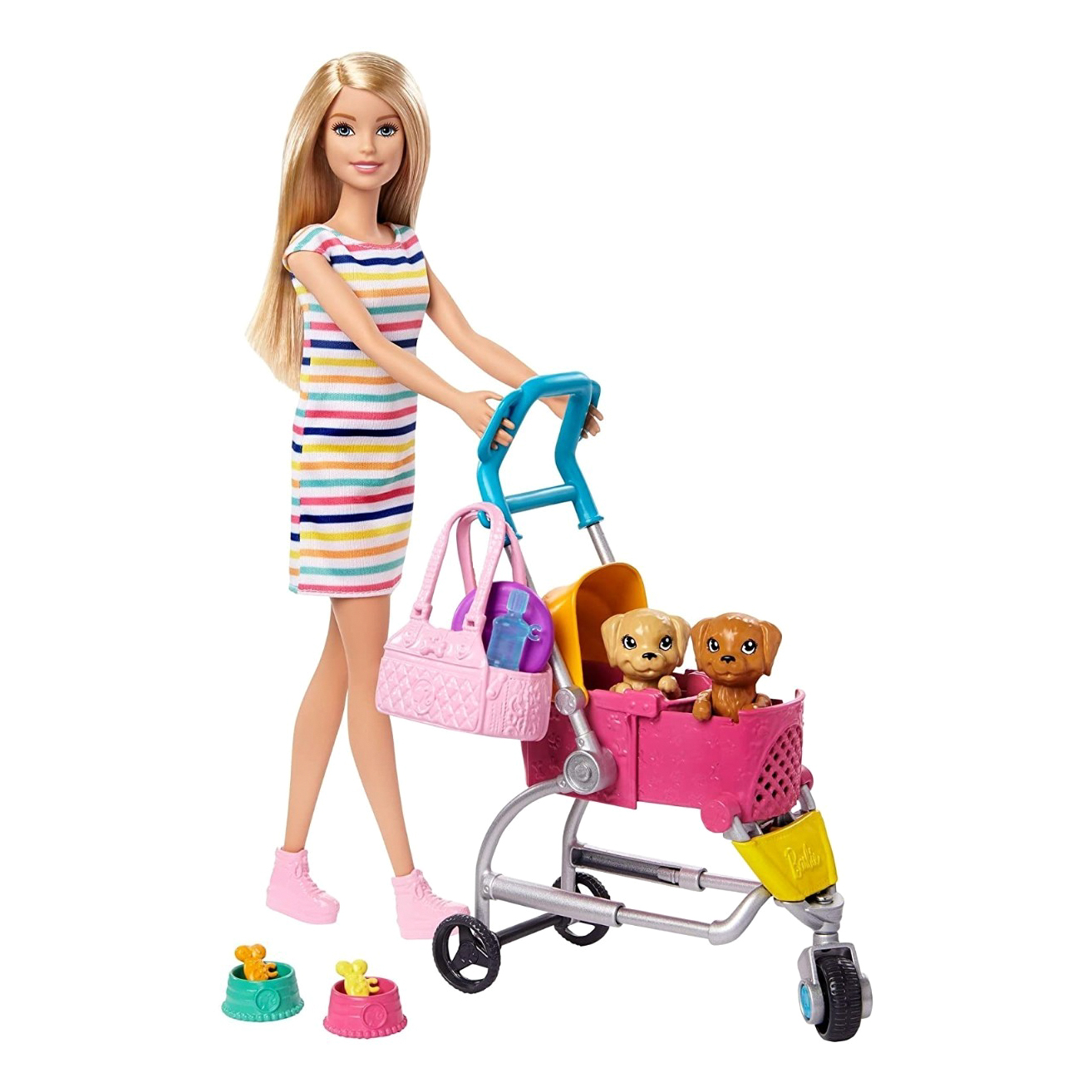 Барби Mattel Barbie с щенком в коляске