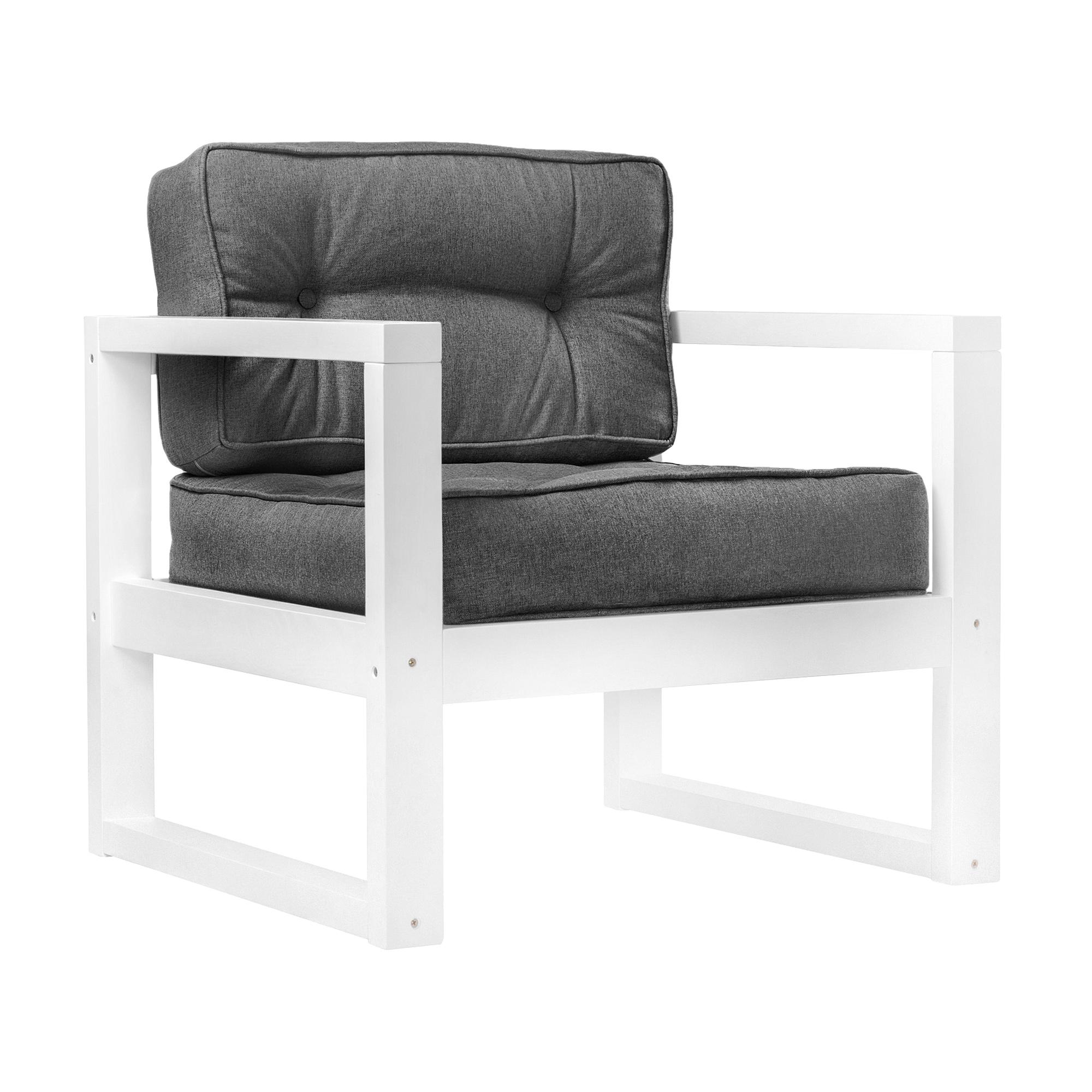 Фото - Кресло AS Алекс 80x73x65 белый/графитовый диван as алекс б 178x73x64 белый графитовый