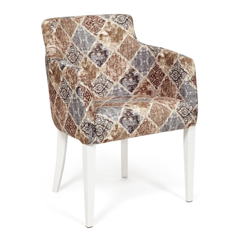 Кресло TC белый/бежево-серый 65х56х77 см