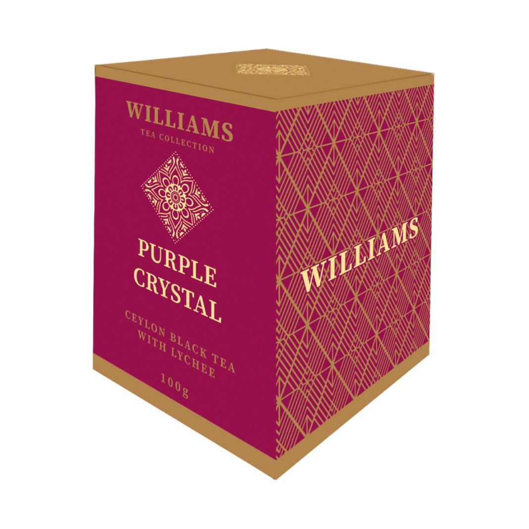 Чай Williams Purple Crystal черный с лепестками сафлора и ароматом личи 100 г