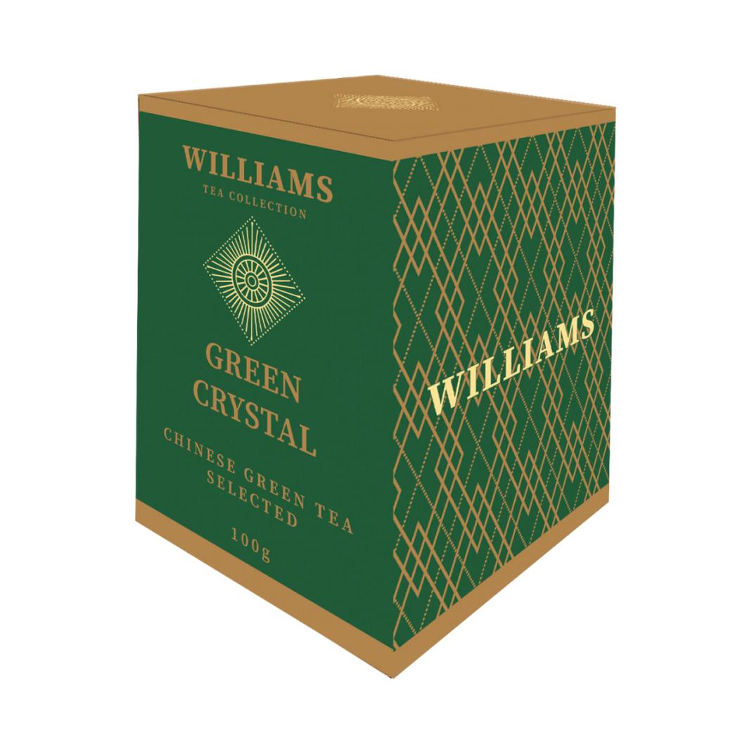 Чай Williams Green Crystal зеленый китайский 100 г чай зеленый kwinst китайский 100 пакетиков
