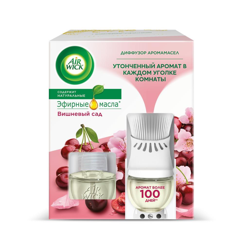 Диффузор аромамасел 19 мл air wick в комплекте со сменным флаконом вишневый сад недорого