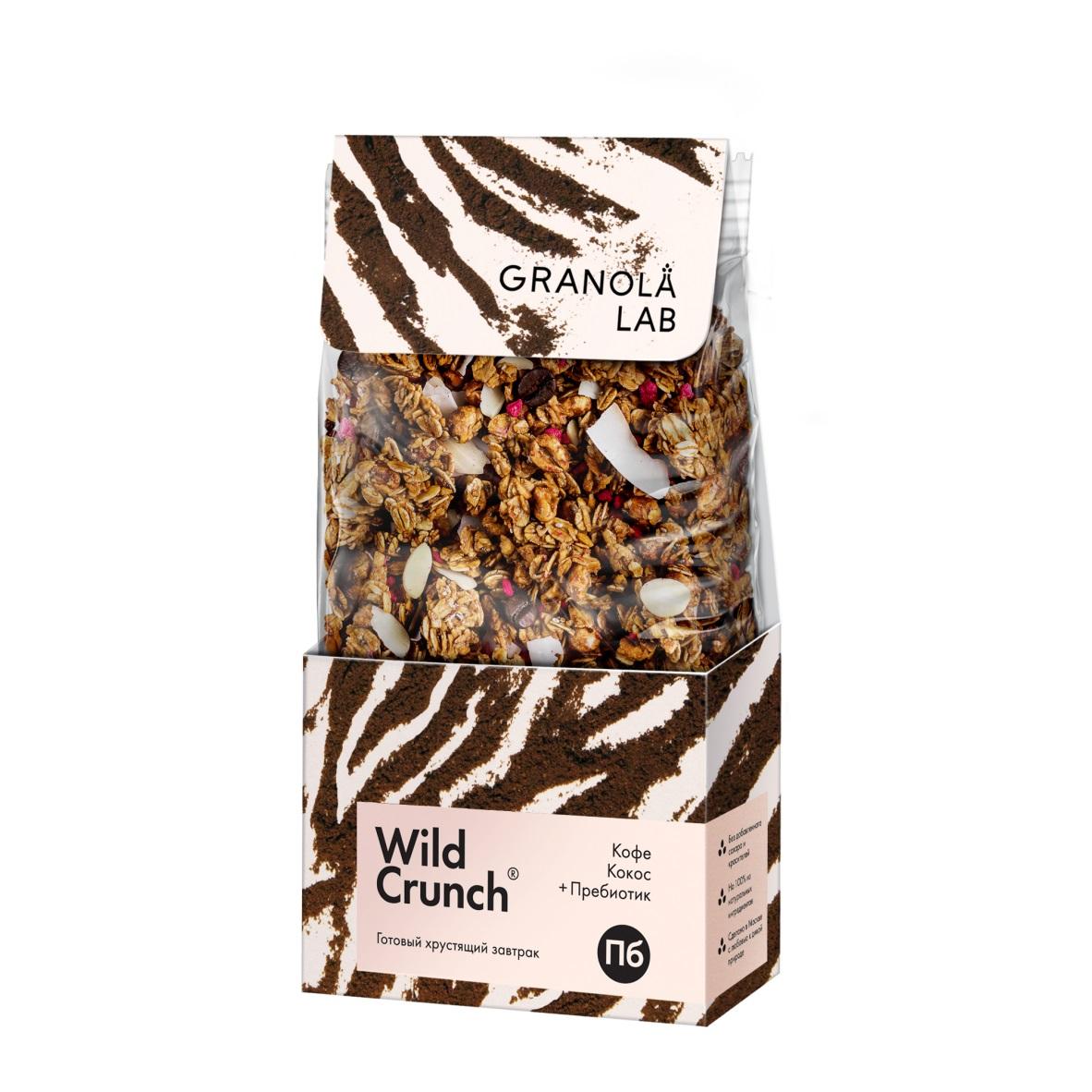 Гранола Granola.Lab Wild Crunch Кокос, кофе + пребиотик 260 г