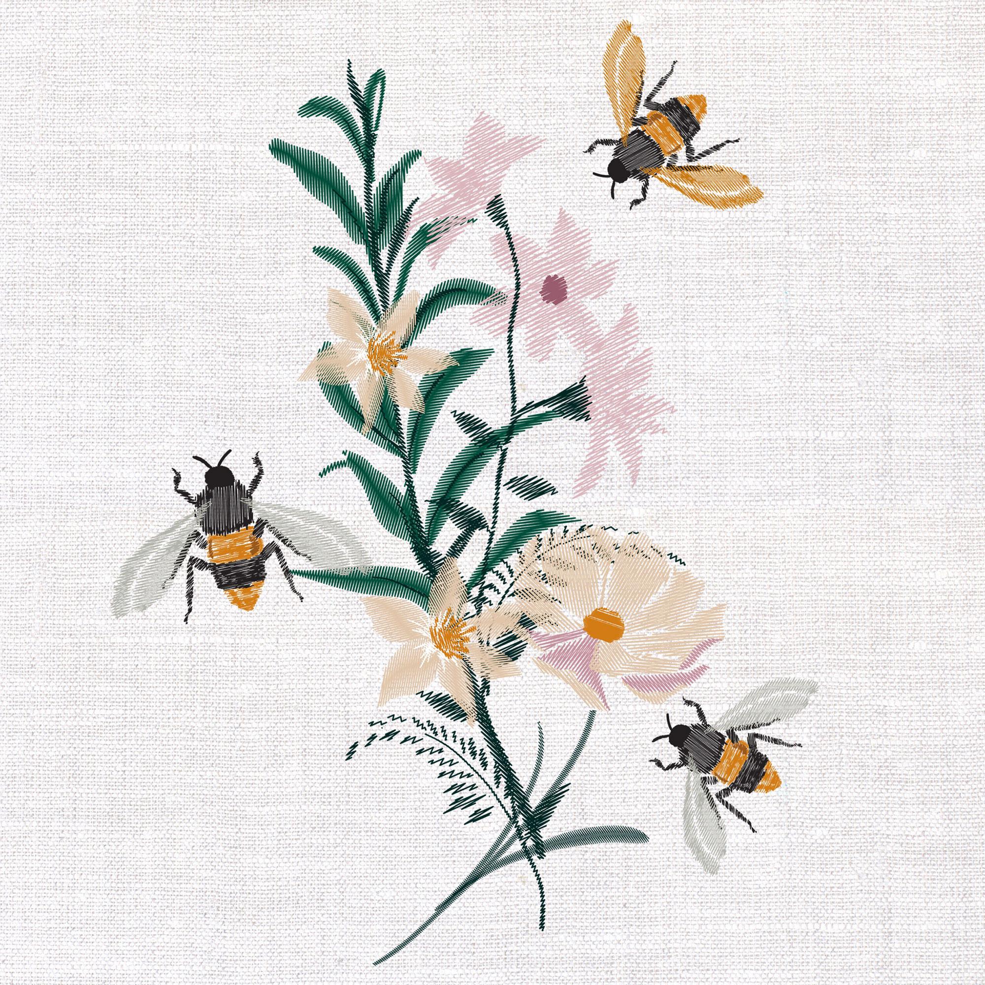 Салфетки Paper+Design Floral Bees 3-сл 33х33 см 20 шт