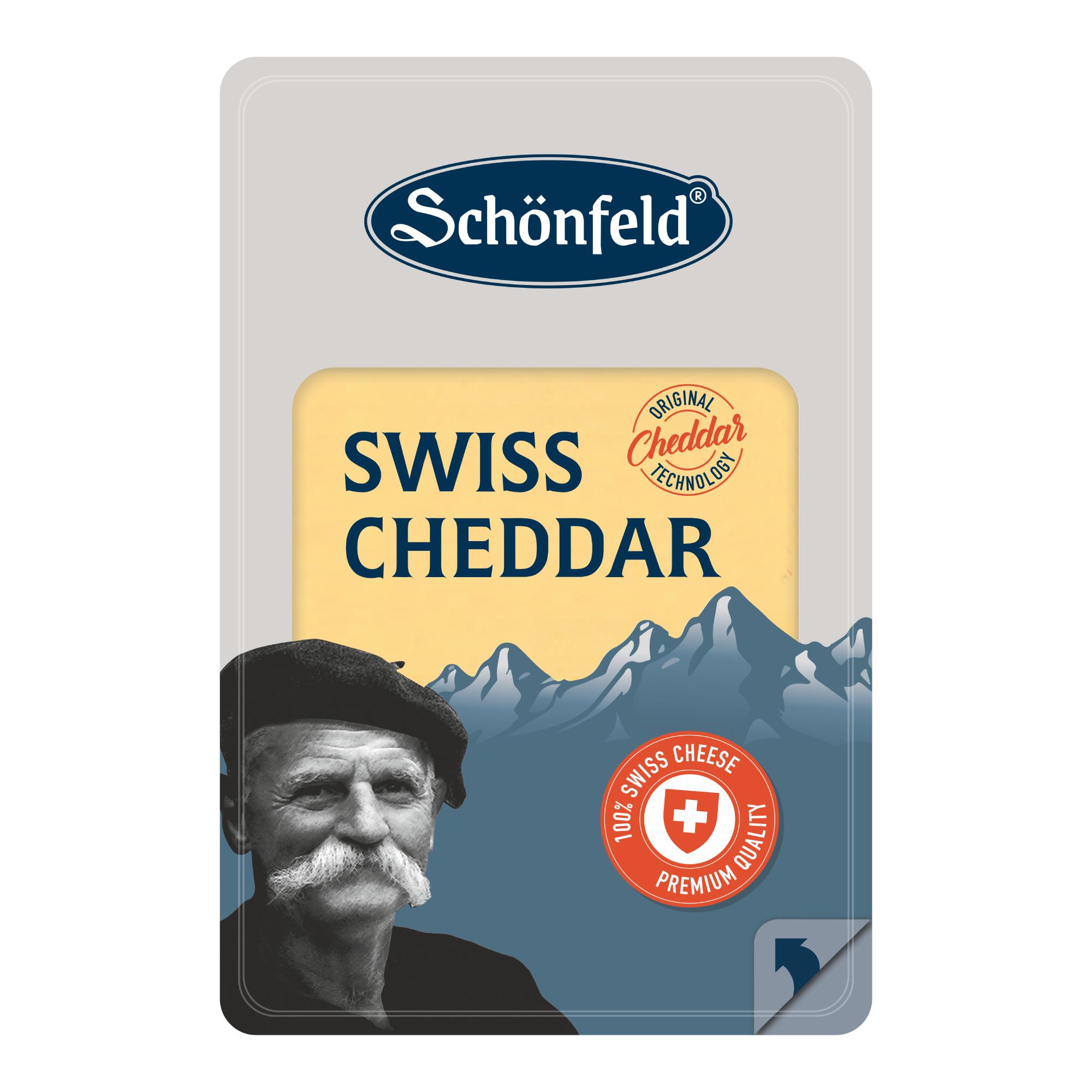 Сыр Schonfeld Swiss Cheddar 53% 125 г недорого