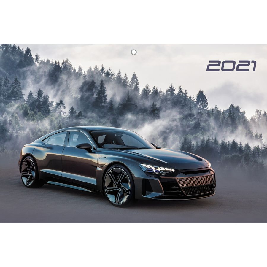 Календарь трехблочный Авто на 2021 год.