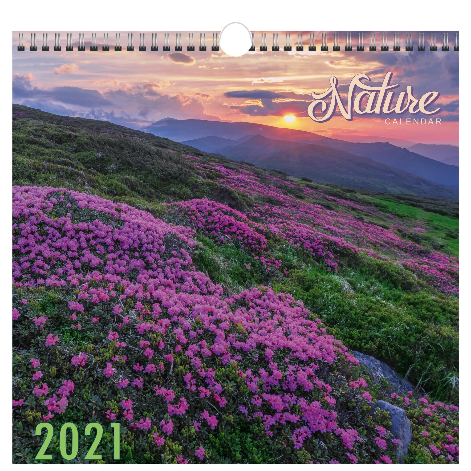 Календарь перекидной Природа (дизайн 1) на 2021 год.
