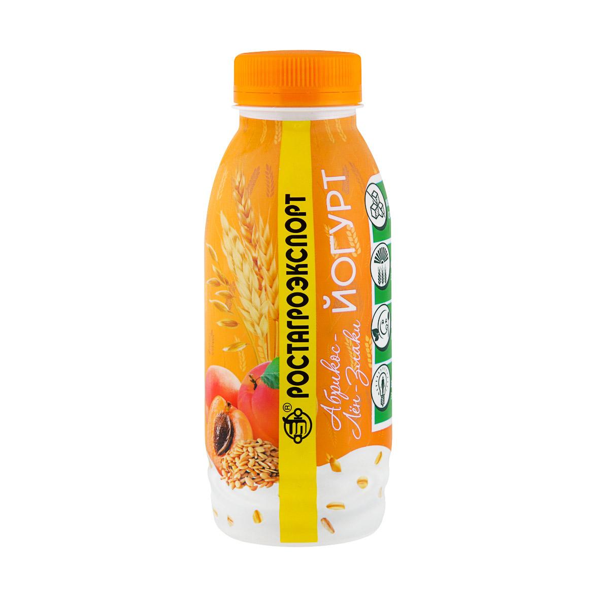 Йогурт РостАгроЭкспорт Абрикос лён злаки 2,5% 290 г фото