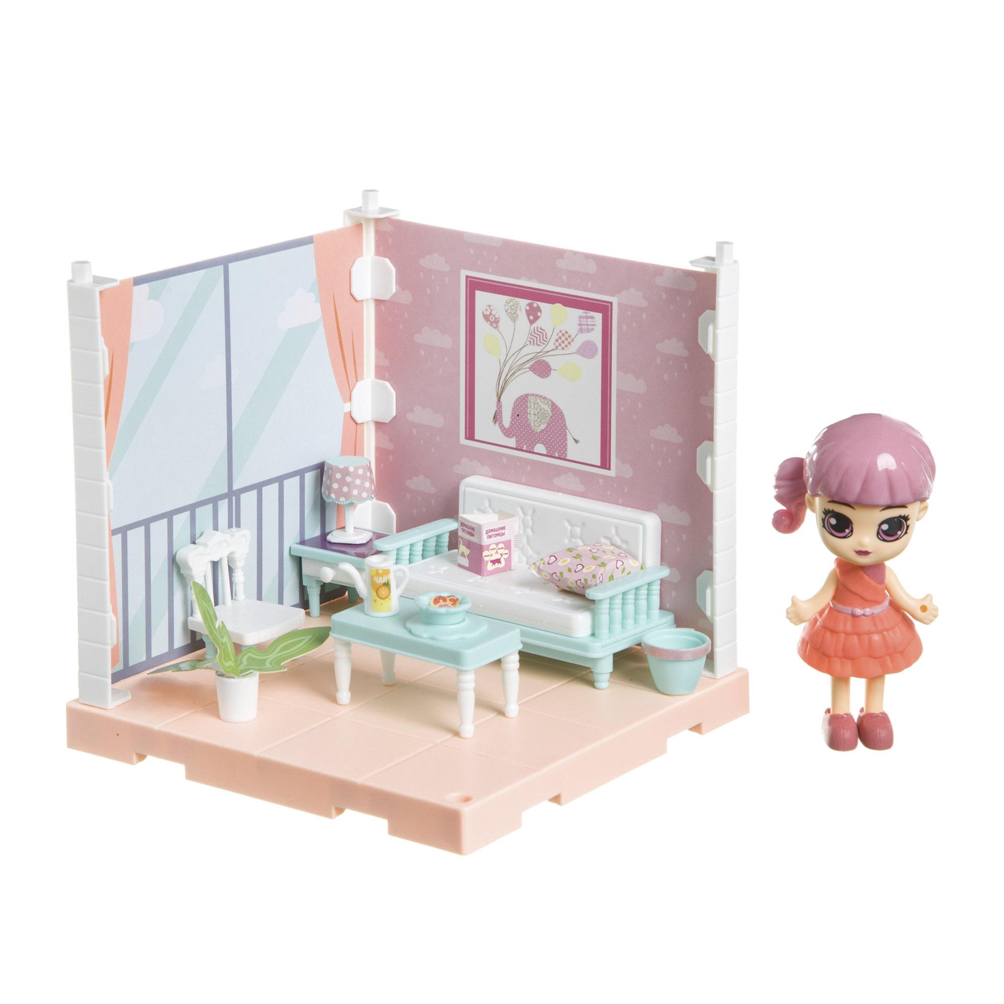 Фото - Набор игровой Bondibon Кукольный уголок гостиная и куколка Oly набор игровой bondibon кукольный уголок гостиная и куколка oly