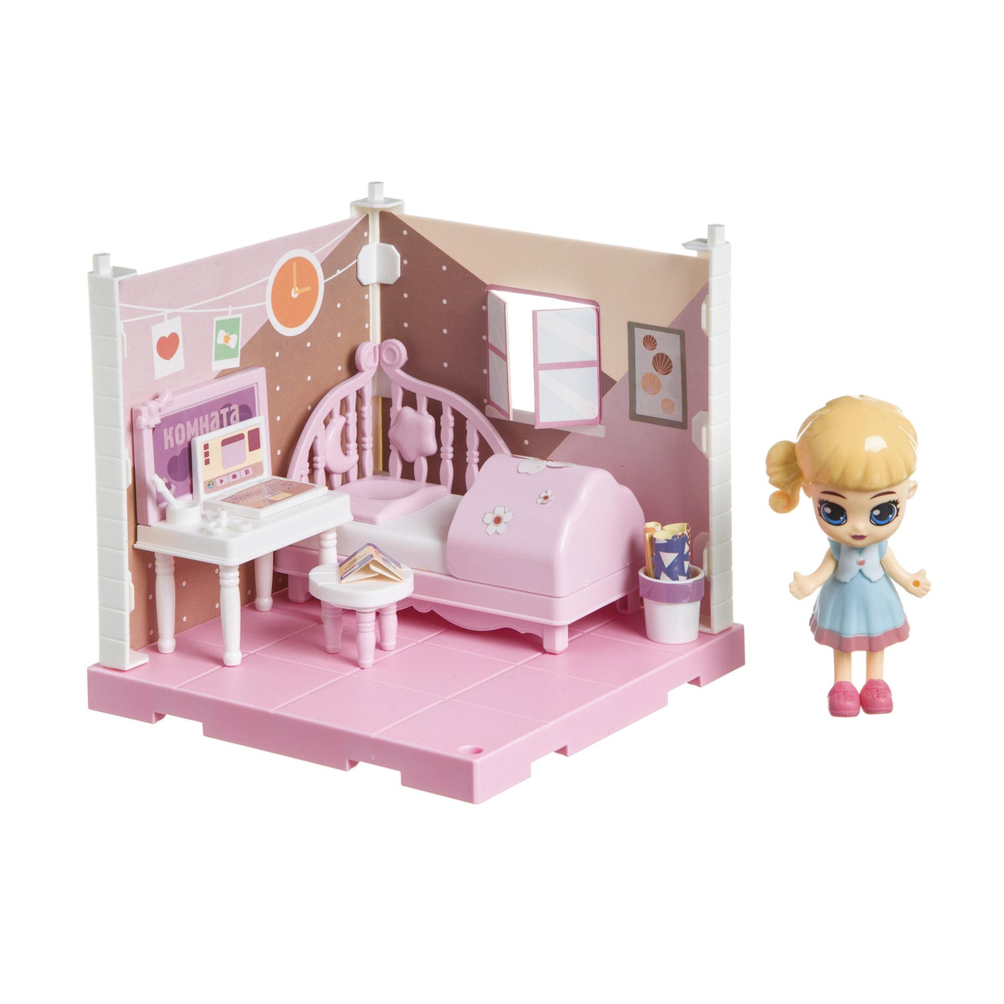 Фото - Набор игровой Bondibon Кукольный уголок спальня и куколка Oly набор игровой bondibon кукольный уголок гостиная и куколка oly