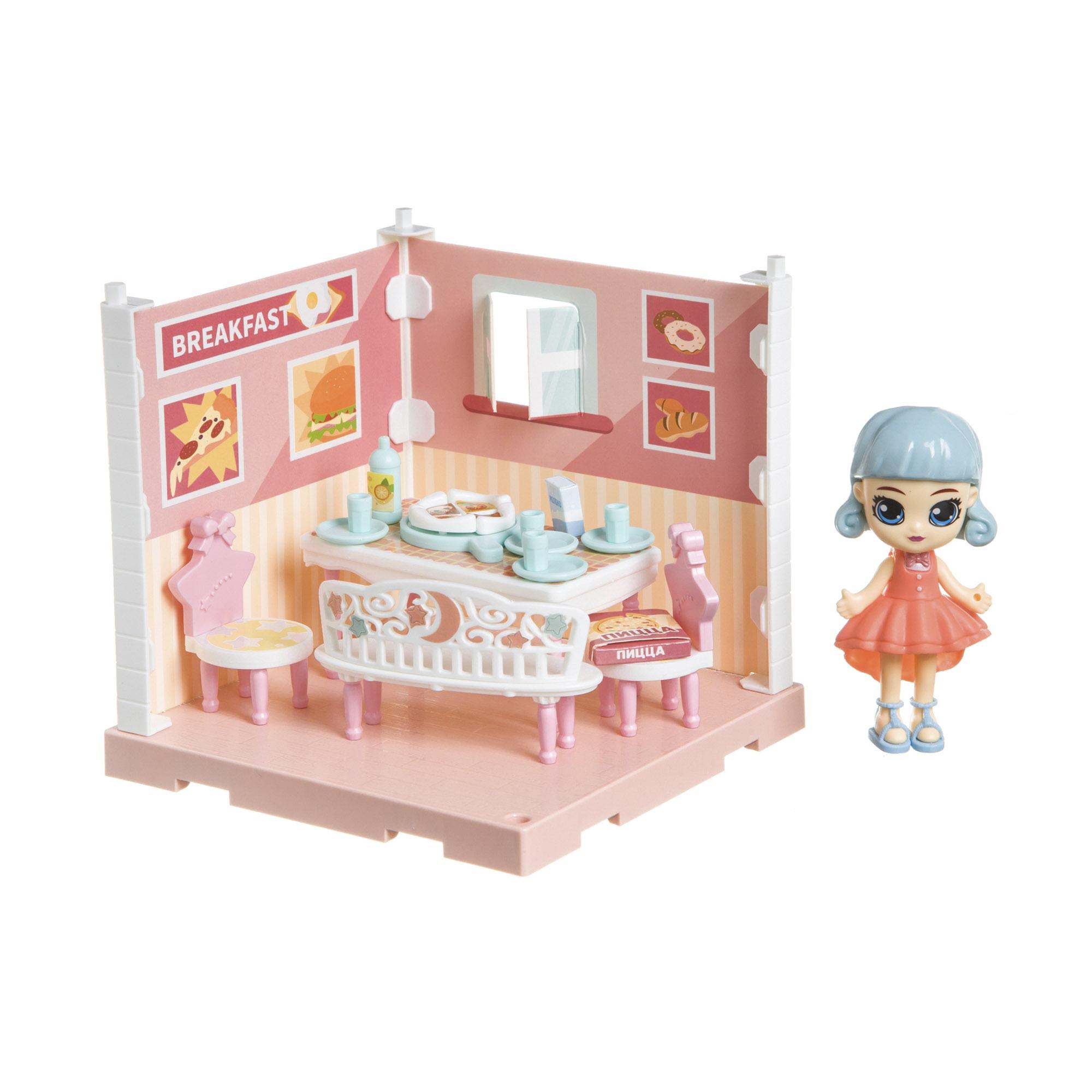 Фото - Набор игровой Bondibon Кукольный уголок столовая и куколка Oly набор игровой bondibon кукольный уголок гостиная и куколка oly