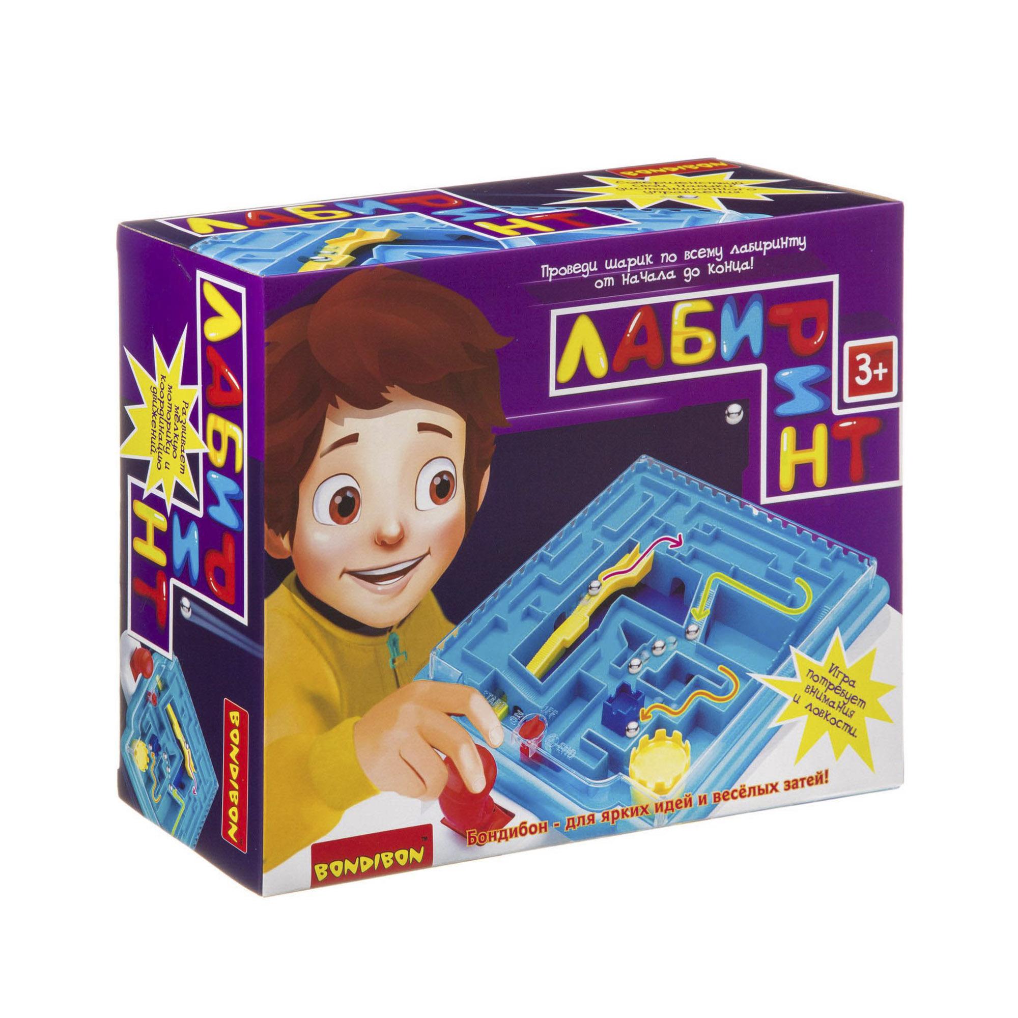 Настольная игра Bondibon Лабиринт с джойстиком ВВ3820 bondibon настольная игра bondibon лабиринт с джойстиком прямоугольное поле