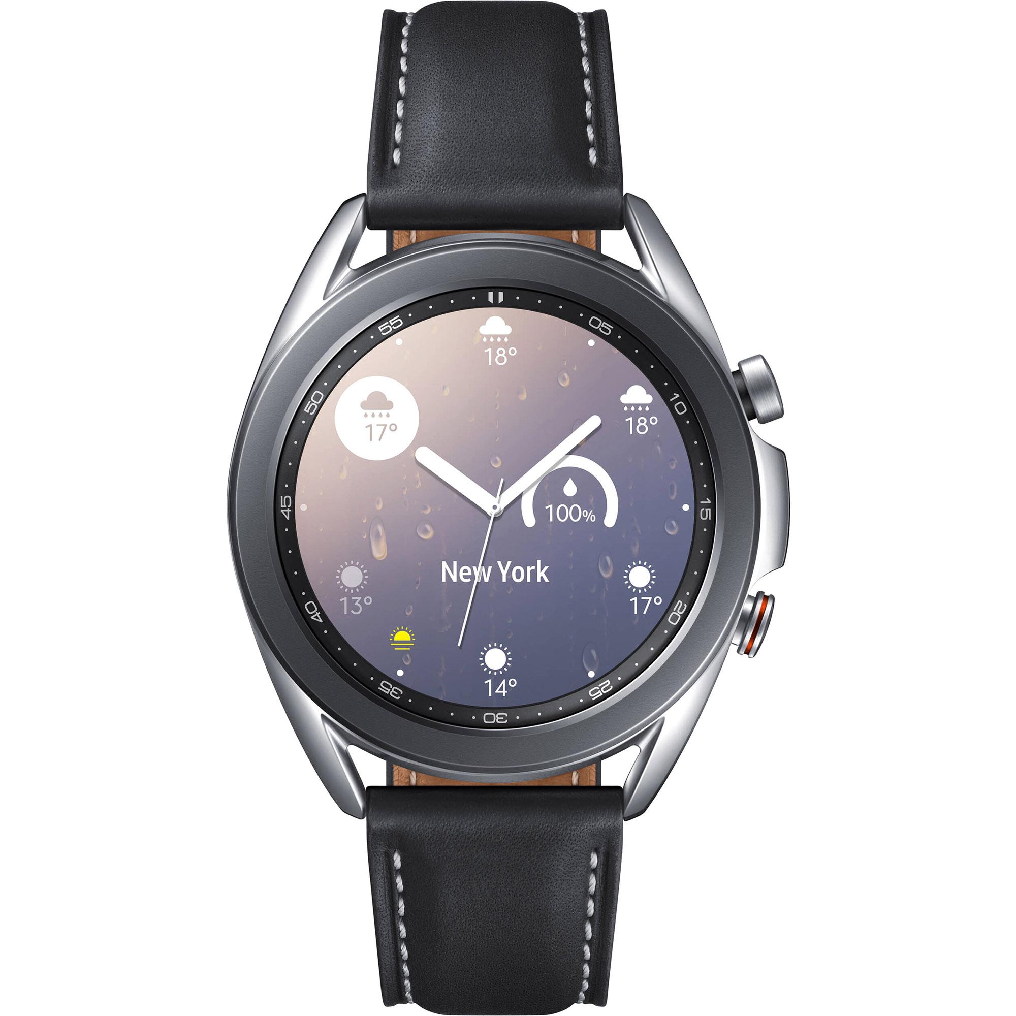Фото - Смарт-часы Samsung Galaxy Watch3 41 мм (SM-R850NZSACIS) Серебро смарт часы samsung galaxy watch 1 3 super amoled серебристый sm r800nzsaser