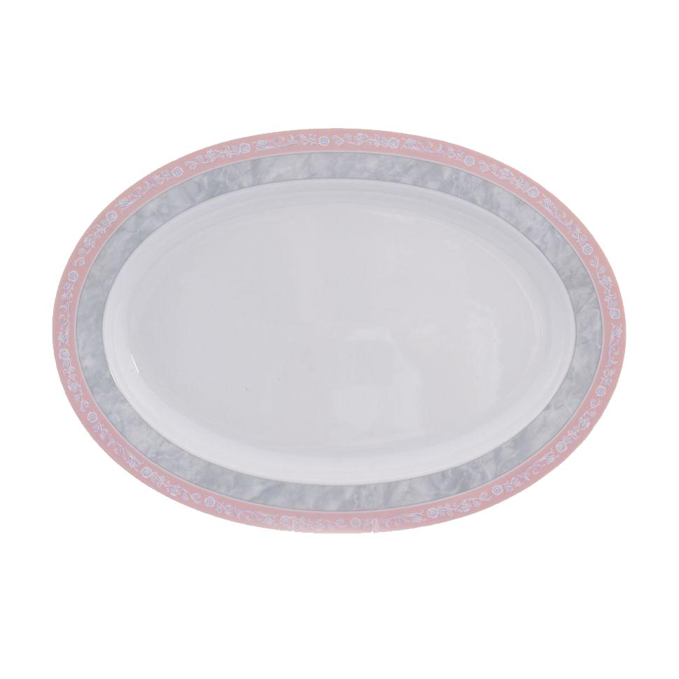 Фото - Блюдо овальное Thun 1794 Яна серый мрамор 36 см блюдо овальное 36 см falkenporzellan блюдо овальное 36 см