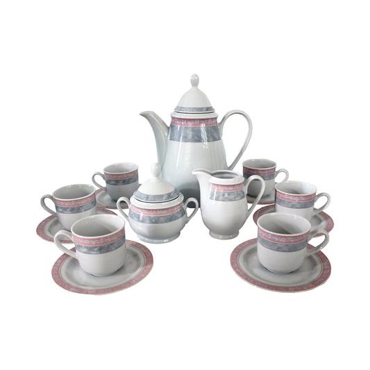 Сервиз кофейный Thun 1794 Яна серый мрамор на 6 персон
