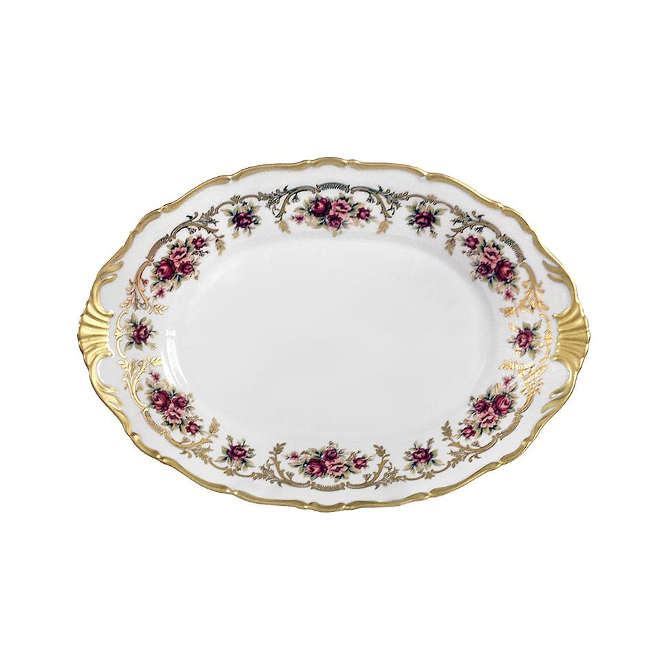 Фото - Блюдо овальное Thun 1794 Ангелина Императорский декор 36 см блюдо овальное 36 см falkenporzellan блюдо овальное 36 см