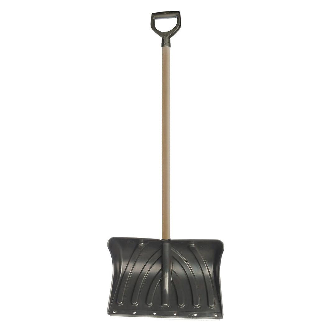 Лопата снеговая Инструмент-Агро домбай с планк и деревянным черенком