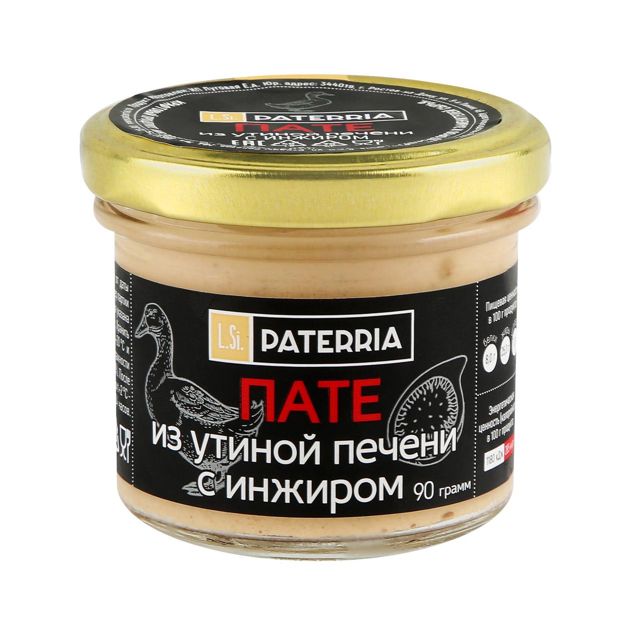 Пате Paterria из утиной печени с инжиром 90 г фото