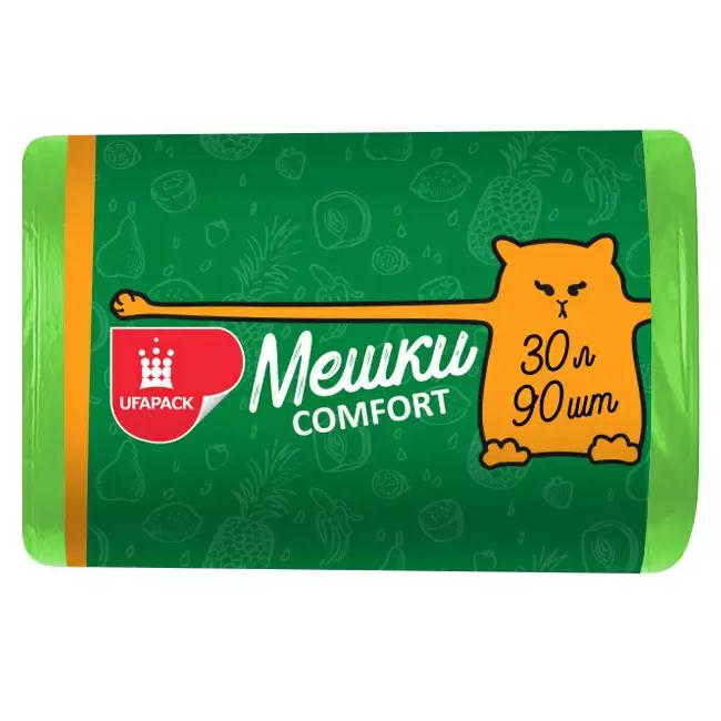Мешки для мусора UFAPACK 30 л 90 шт мешки для мусора ufapack с ушками черные 35 л 30 шт