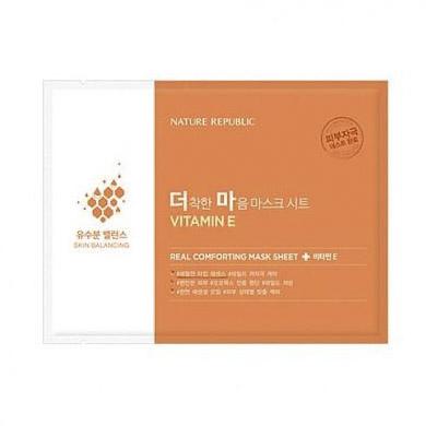 Тканевая маска Nature Republic Real Comforting Mask Sheet (Vitamin E) nature republic 150ml face toner soothing