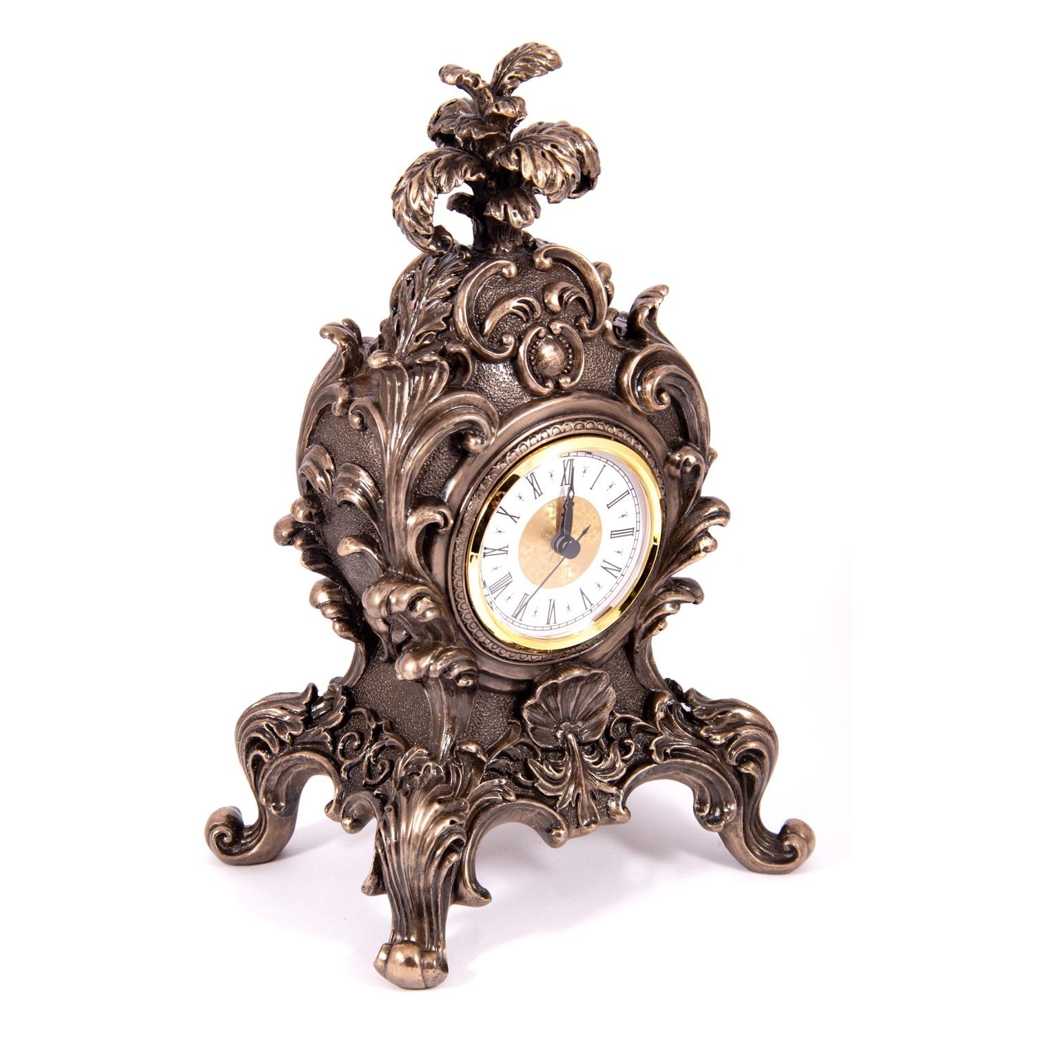 Часы настольные Русские подарки Барокко 19х15х32см
