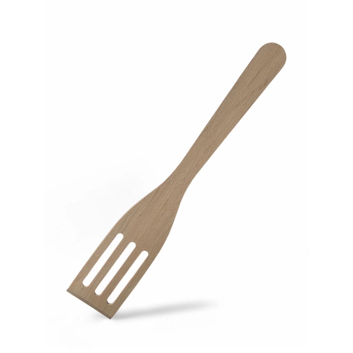Лопатка кухонная с прорезями А-Фабрик бук 26x5x3 см лопатка кухонная 28х5см бук