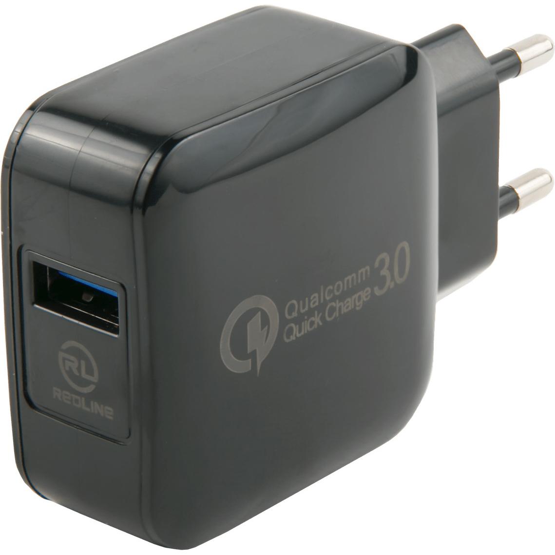 Фото - Сетевое зарядное устройство Red Line NQC-4 черный сетевое зарядное устройство stm gl150