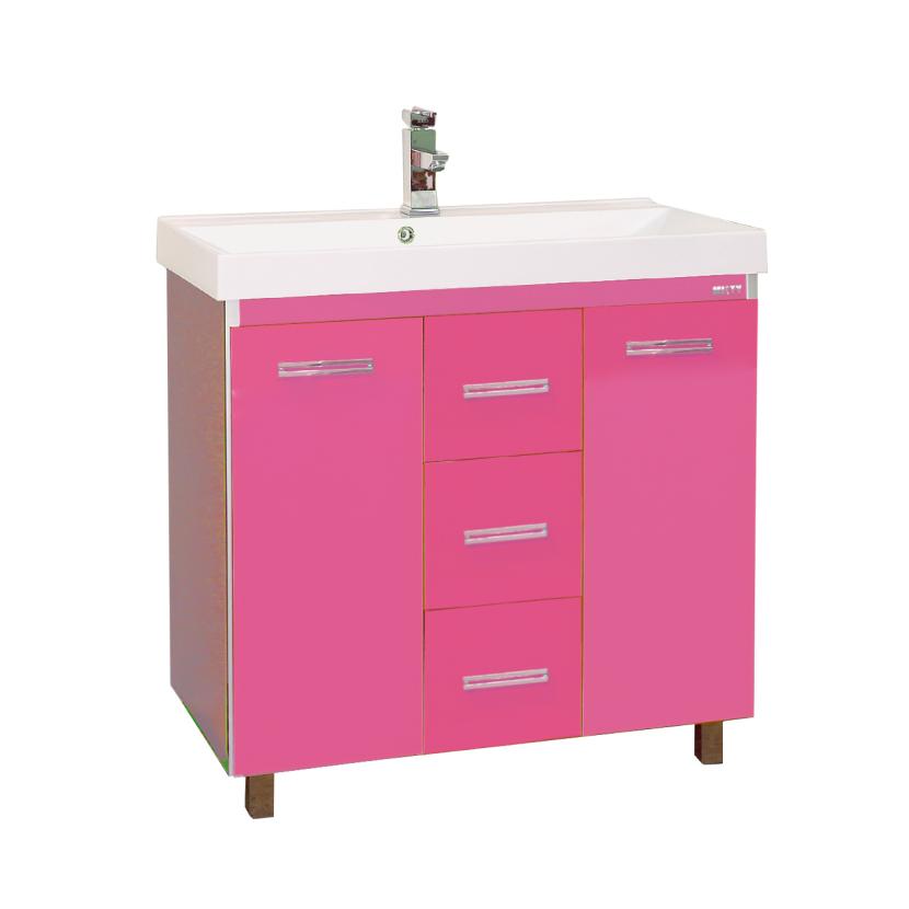 Тумба Мисти Джулия 90 qv с 3 ящиками прямая розовая тумба мисти джулия 60 qv прямая розовая